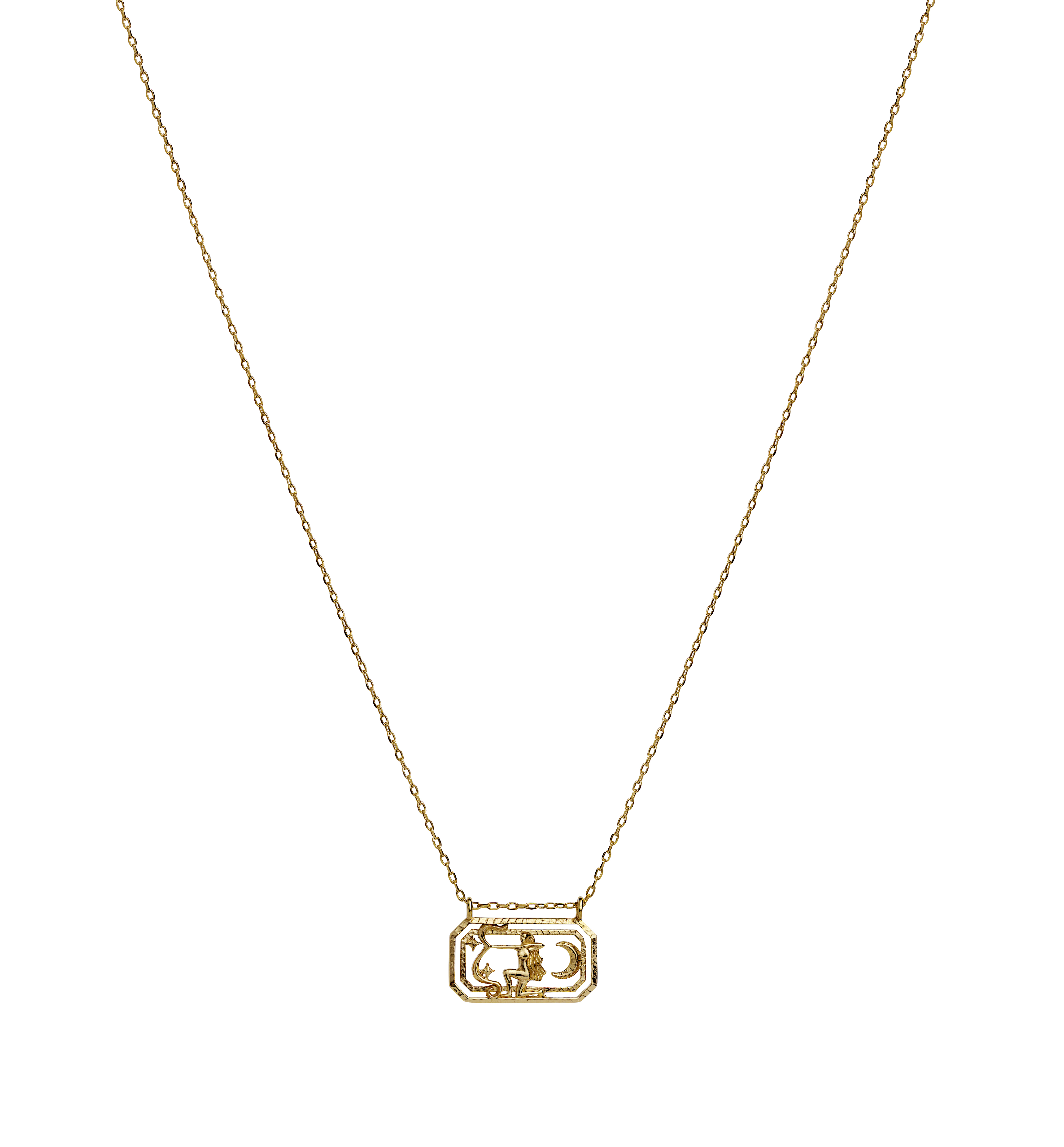 Maanesten Zodiac halskæde, Saggitarius, guld, 45 cm