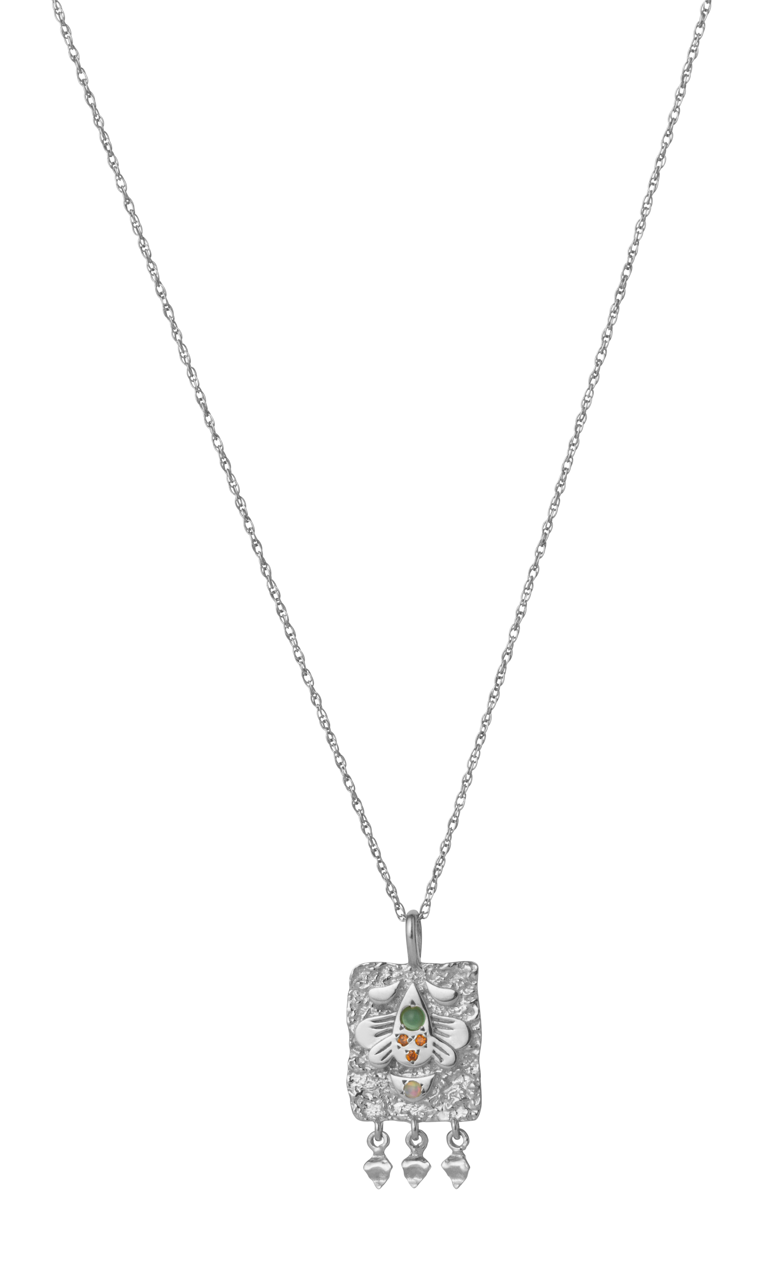 Maanesten Spire Amulet halskæde, sølv