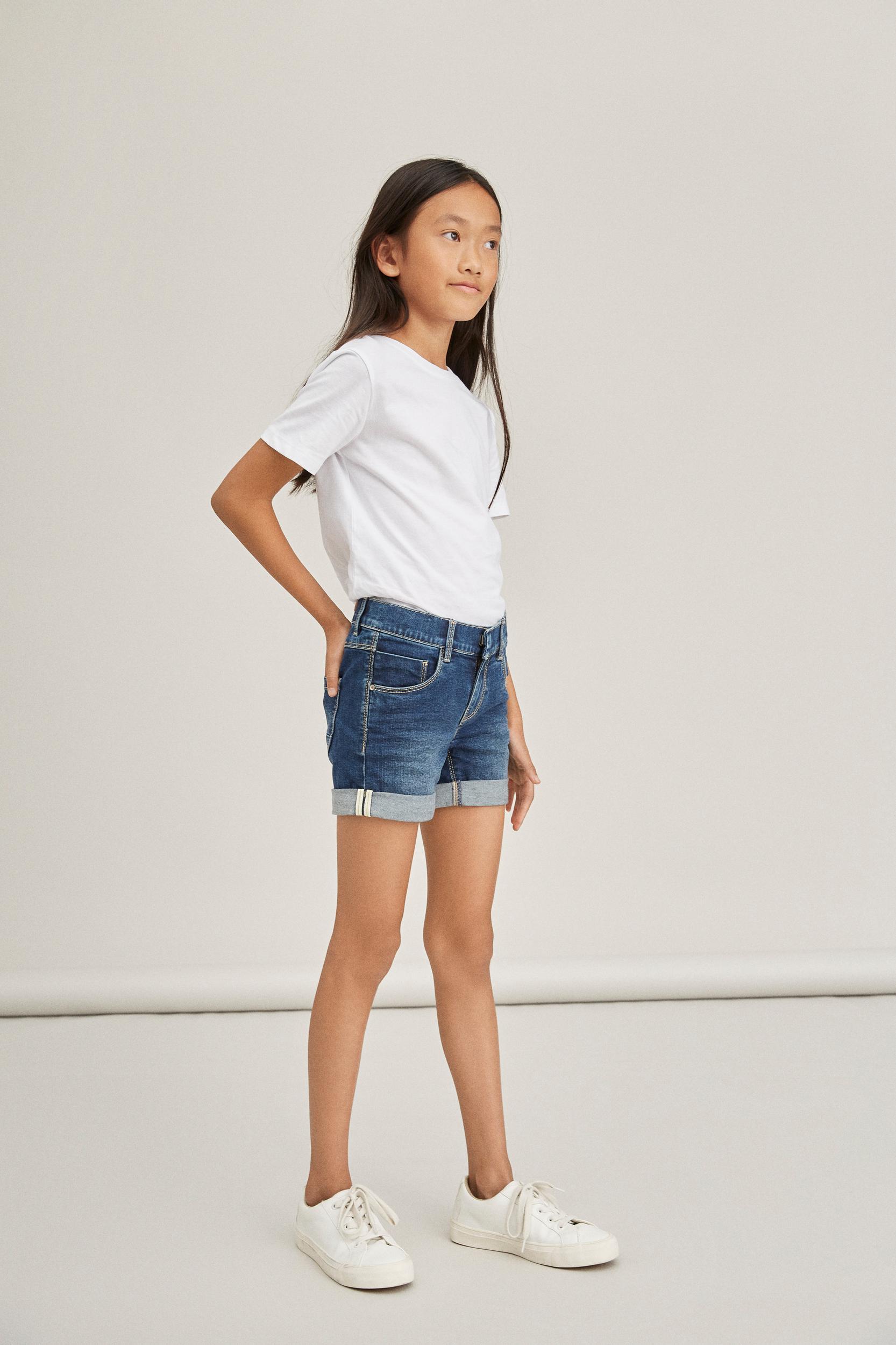 Name It Salli shorts, dark blue denim, 140