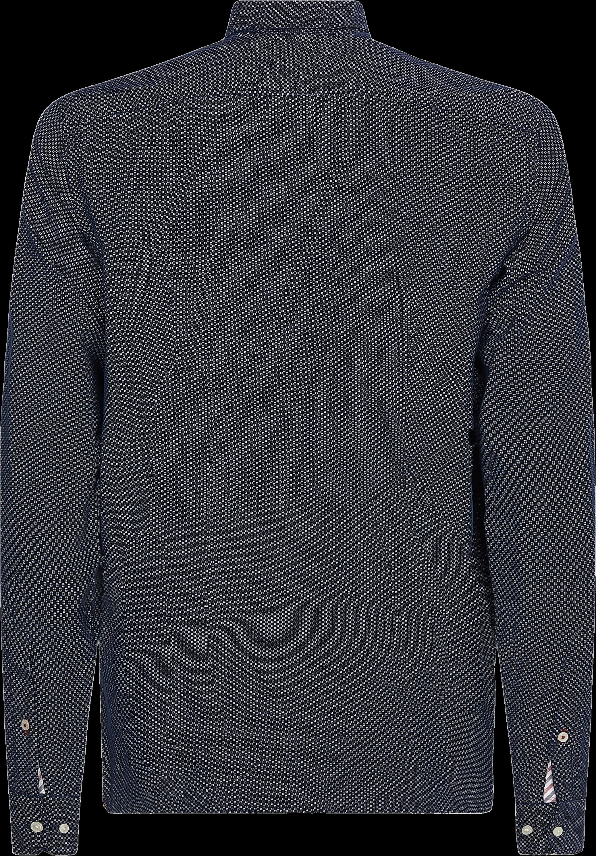 Tommy Hilfiger Geometric Print Skjorte, Carban Navy/Ecru, XL