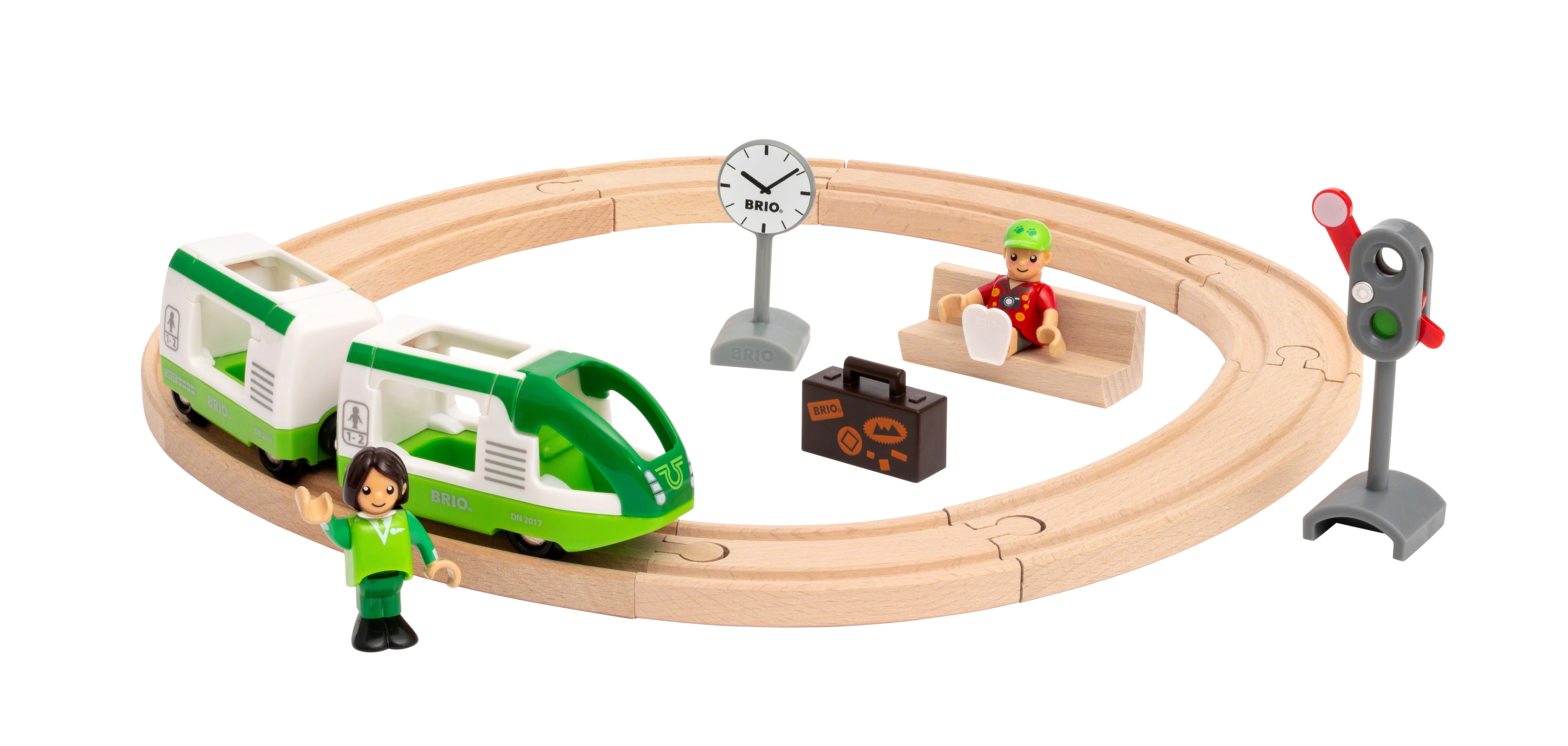 BRIO rundt togbanesæt