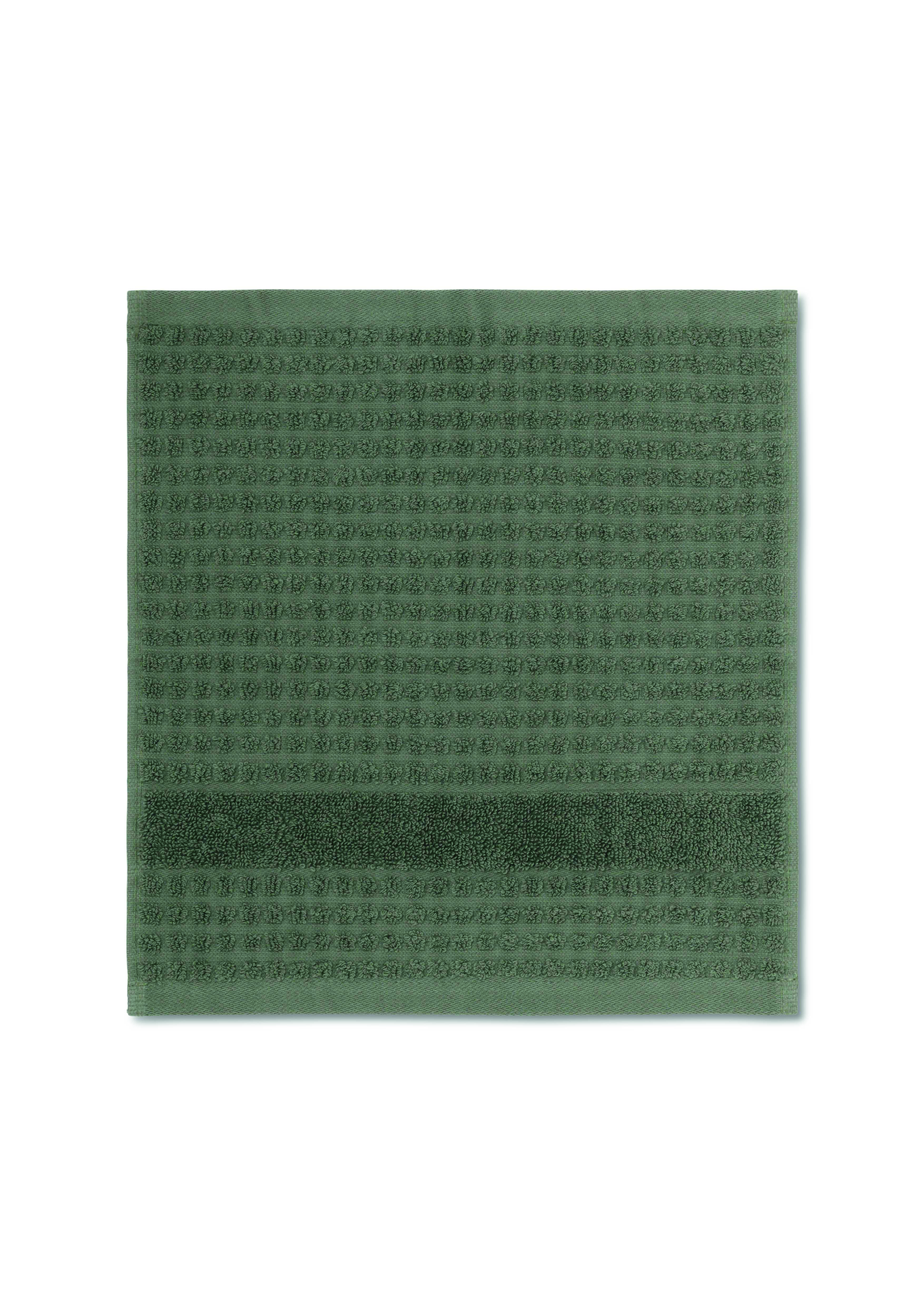 Juna Check vaskeklud, 30x30 cm, mørkegrøn