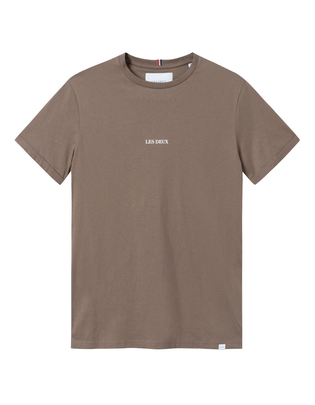 Les Deux Lens t-shirt, mountain grey/white, small