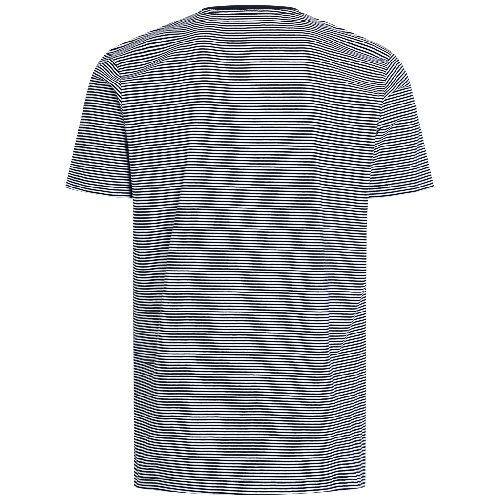Knowledge Cotton Apparel Alder striped basic t-shirt, total eclipse, xx-large