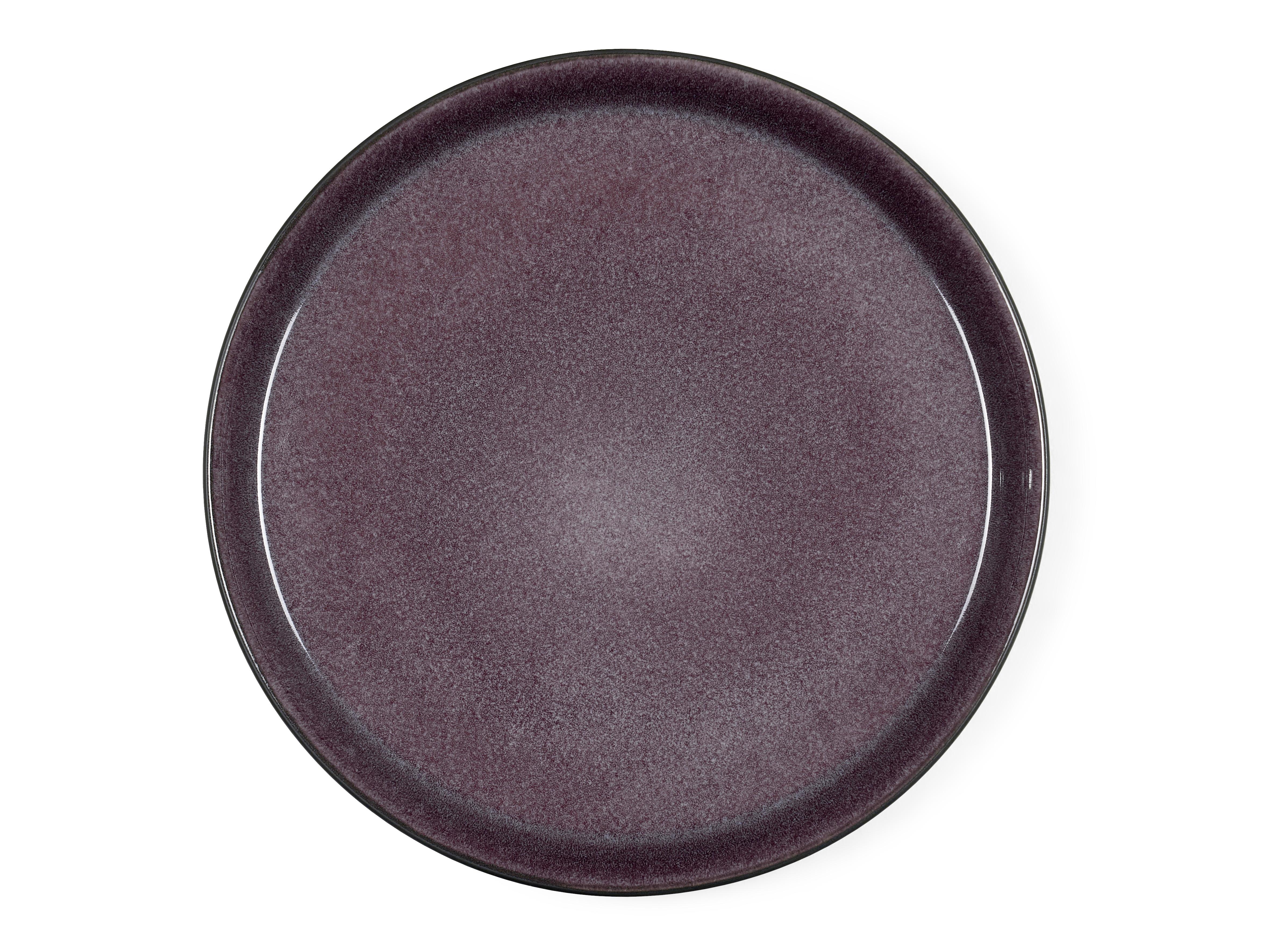 Bitz Gastro middagstallerken, Ø27 cm, sort/lilla