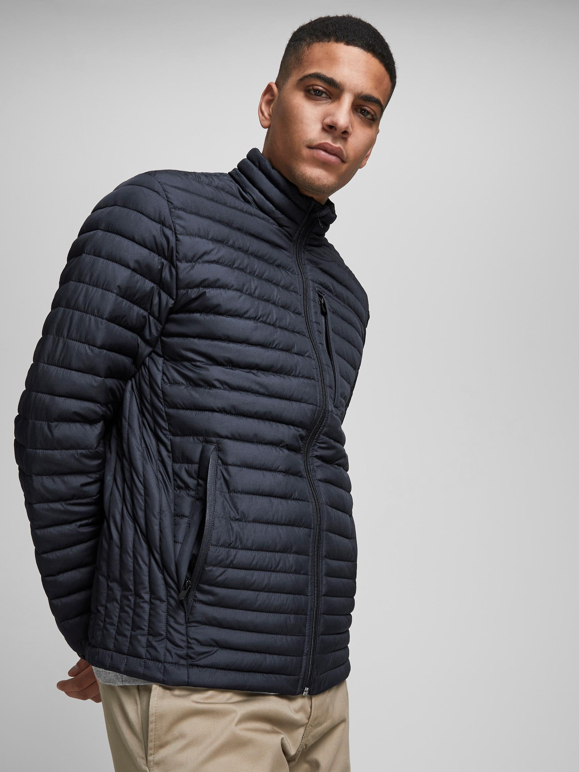 Jack & Jones Ensfarvet jakke, dark navy, large