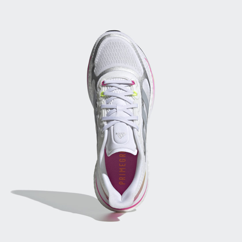 Adidas Supernova+ sko, cloud white/halo silver/screaming pink, 38 2/3