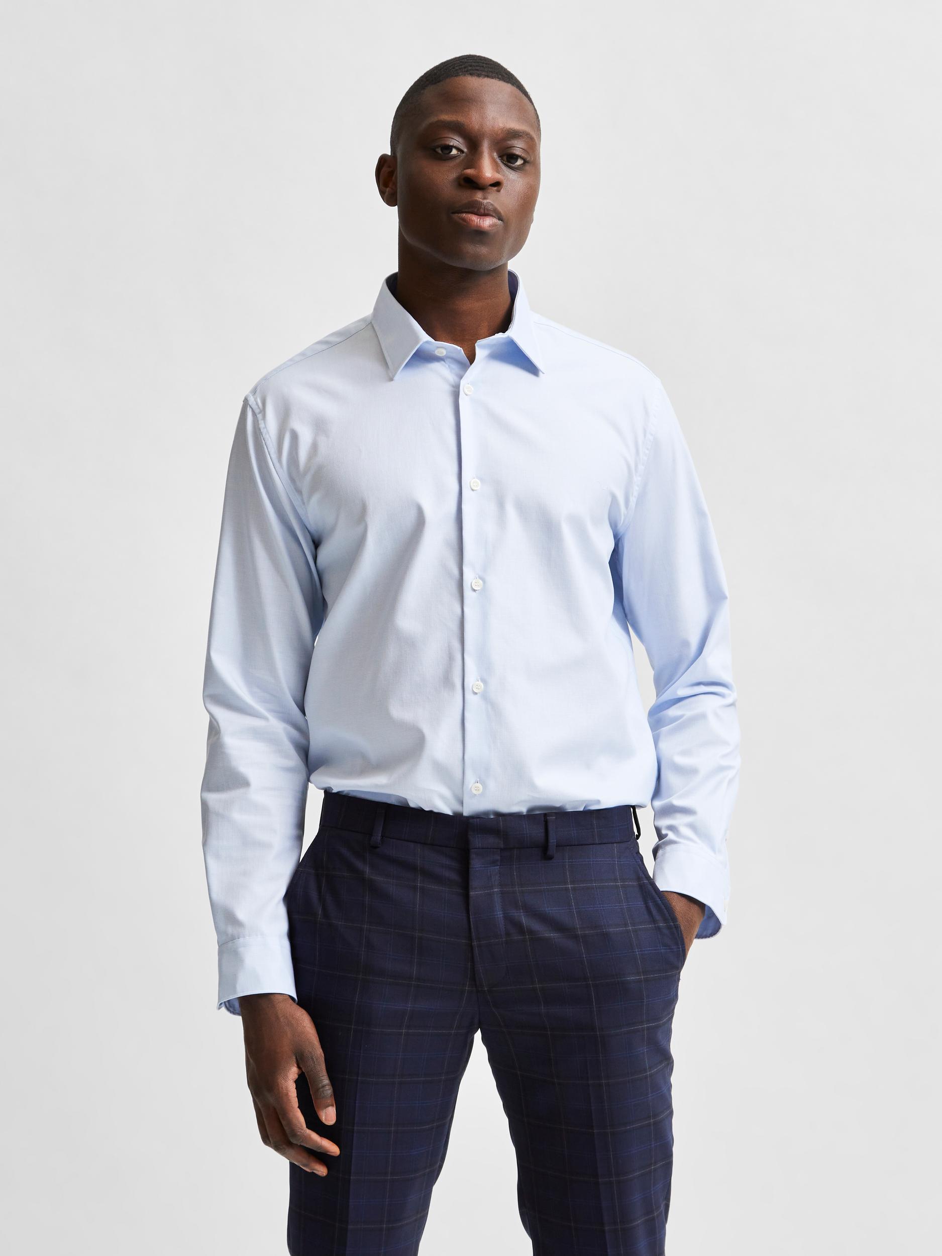 Selected Homme Slim Ethan skjorte, light blue, medium