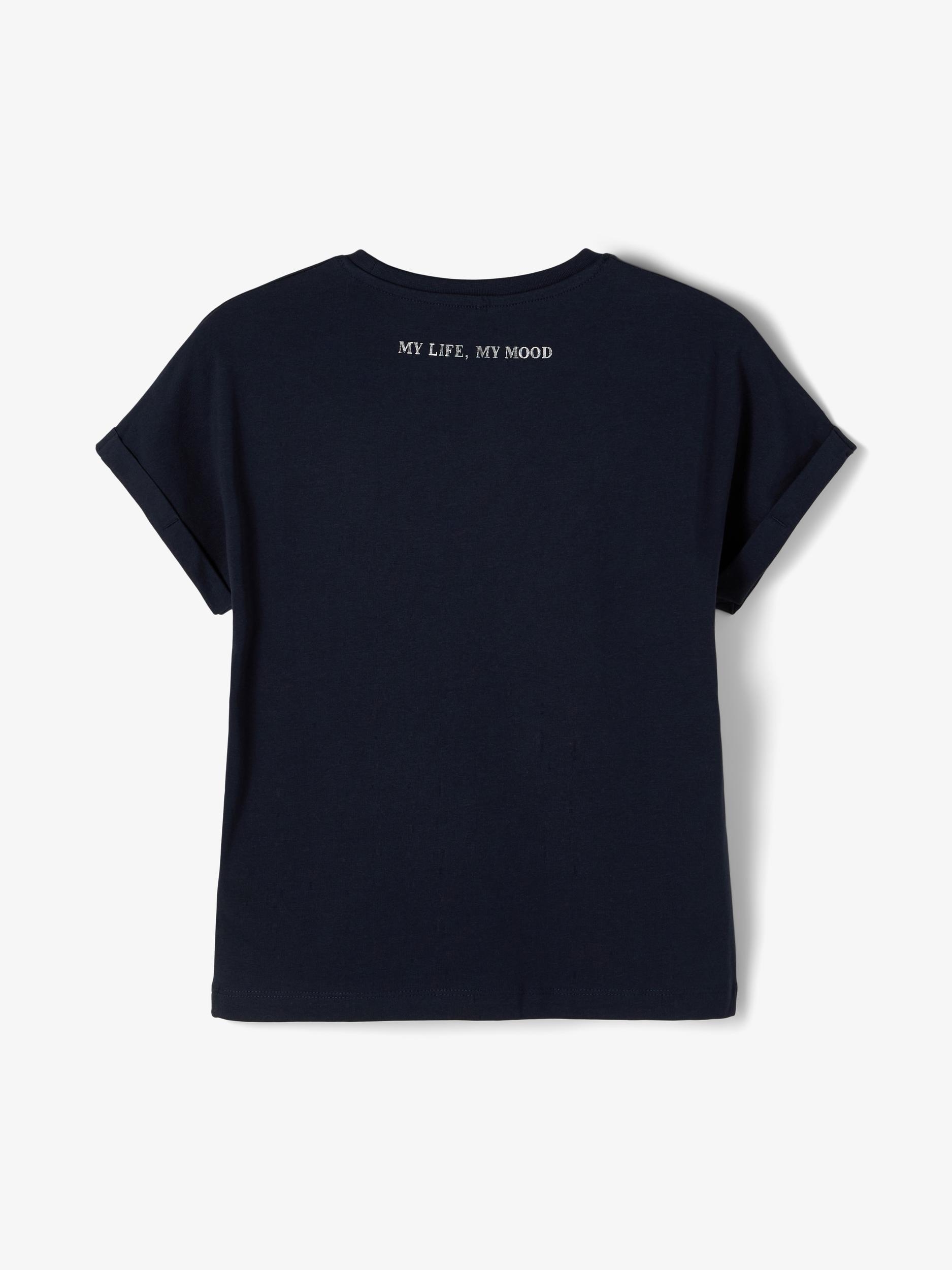Name It Bisan t-shirt, dark sapphire, 116