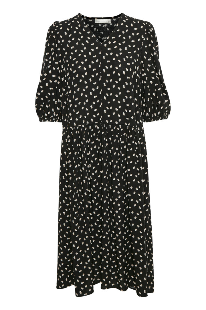 InWear ViksaIW kjole, black double dot, 34