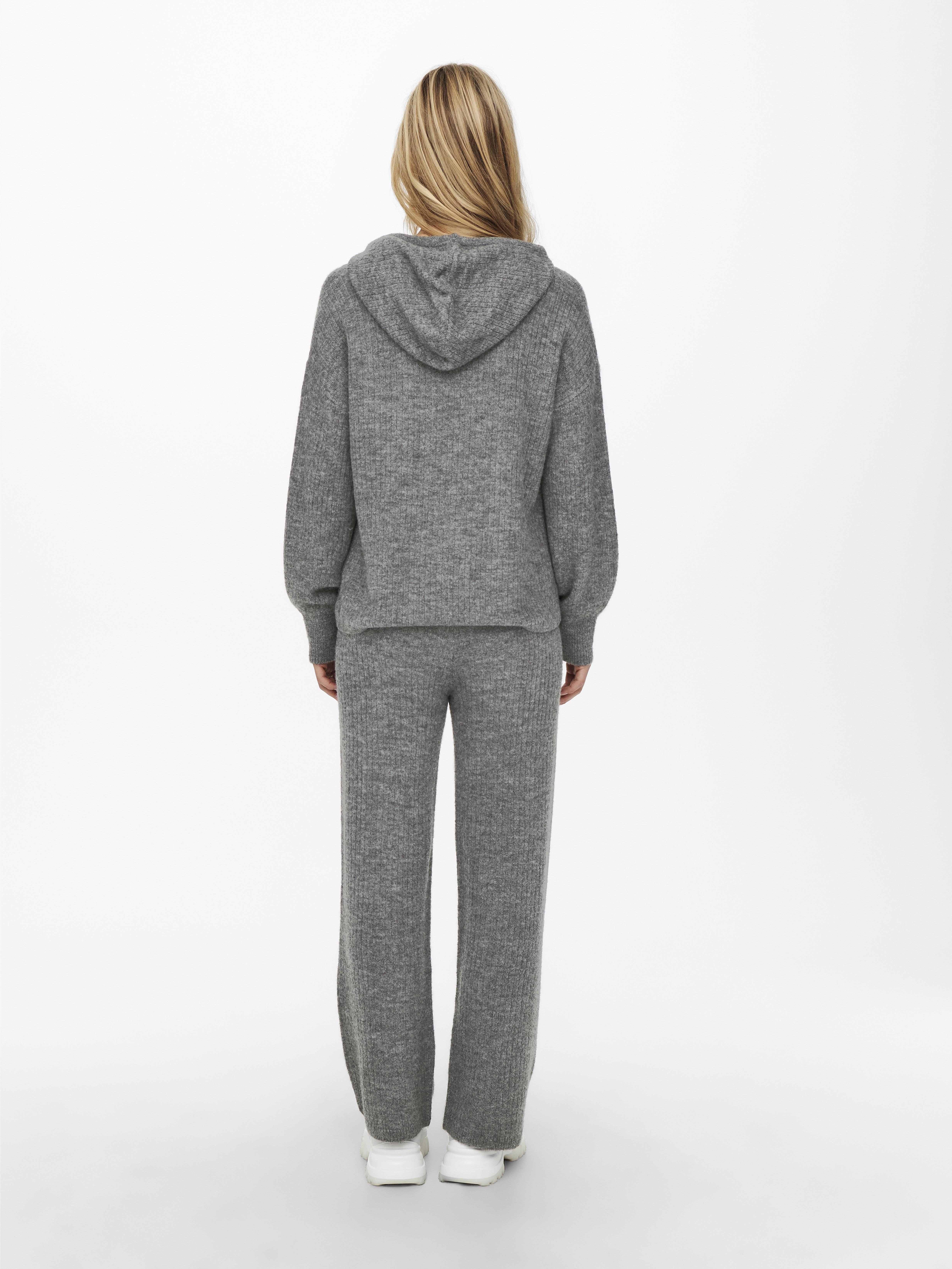 Jacqueline de Yong Sunday hættetrøje, Dark Grey Melange, S
