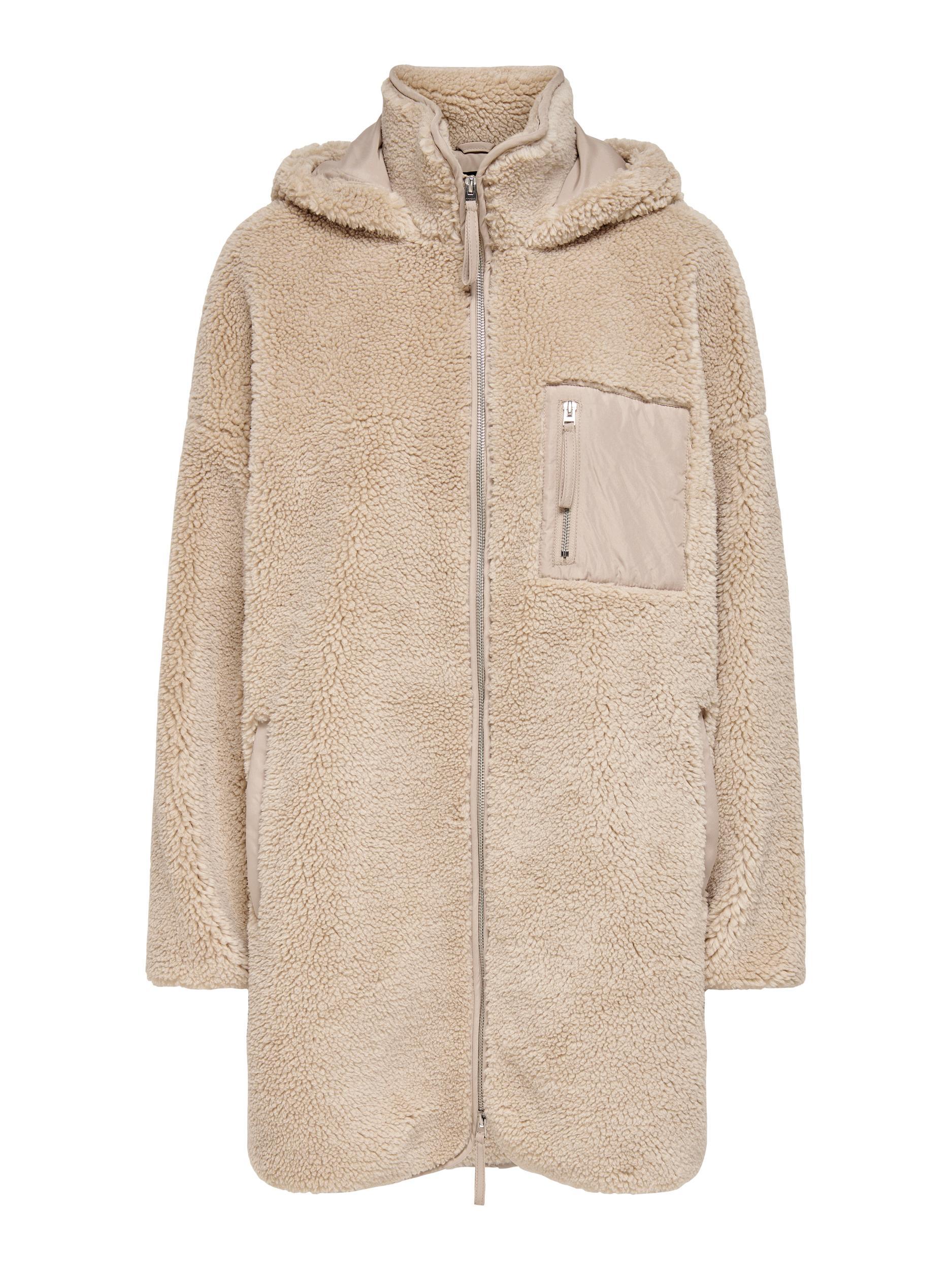 ONLY Sascha Sherpa jakke, cuban sand, medium