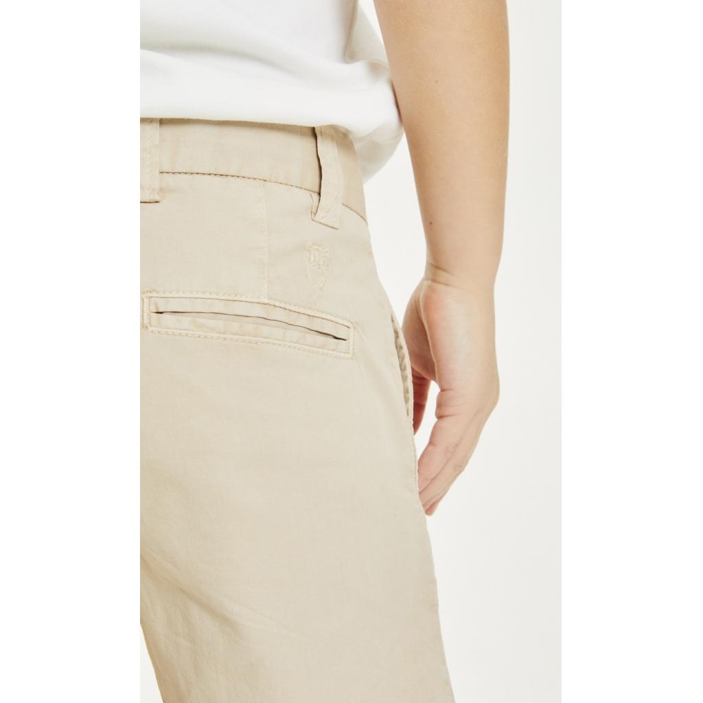 Knowledge Cotton Apparel Kale chino pants, gray, 134-140