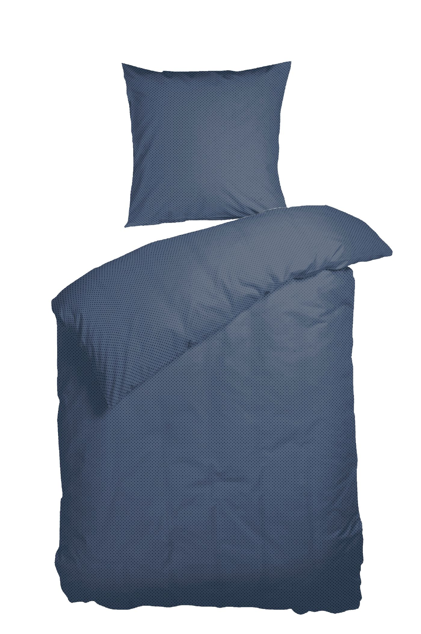 Nordisk Tekstil Morning Dew sengelinned, 140x200 cm, mørkeblå