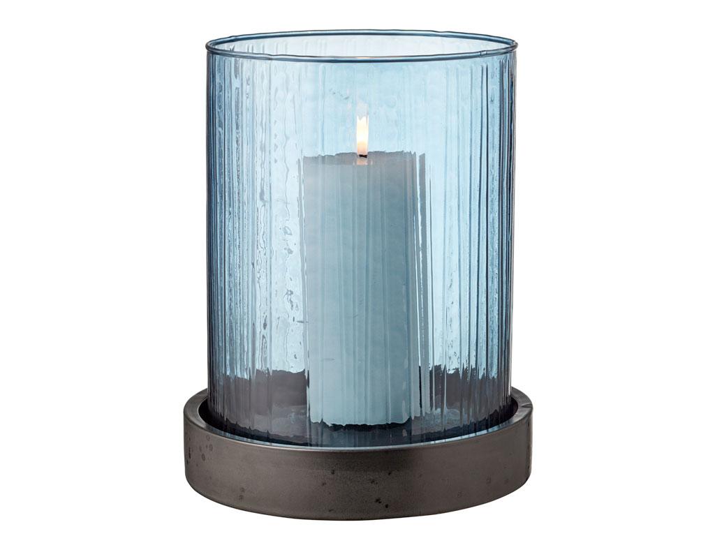 Bitz hurricane med LED, 24 cm, blå