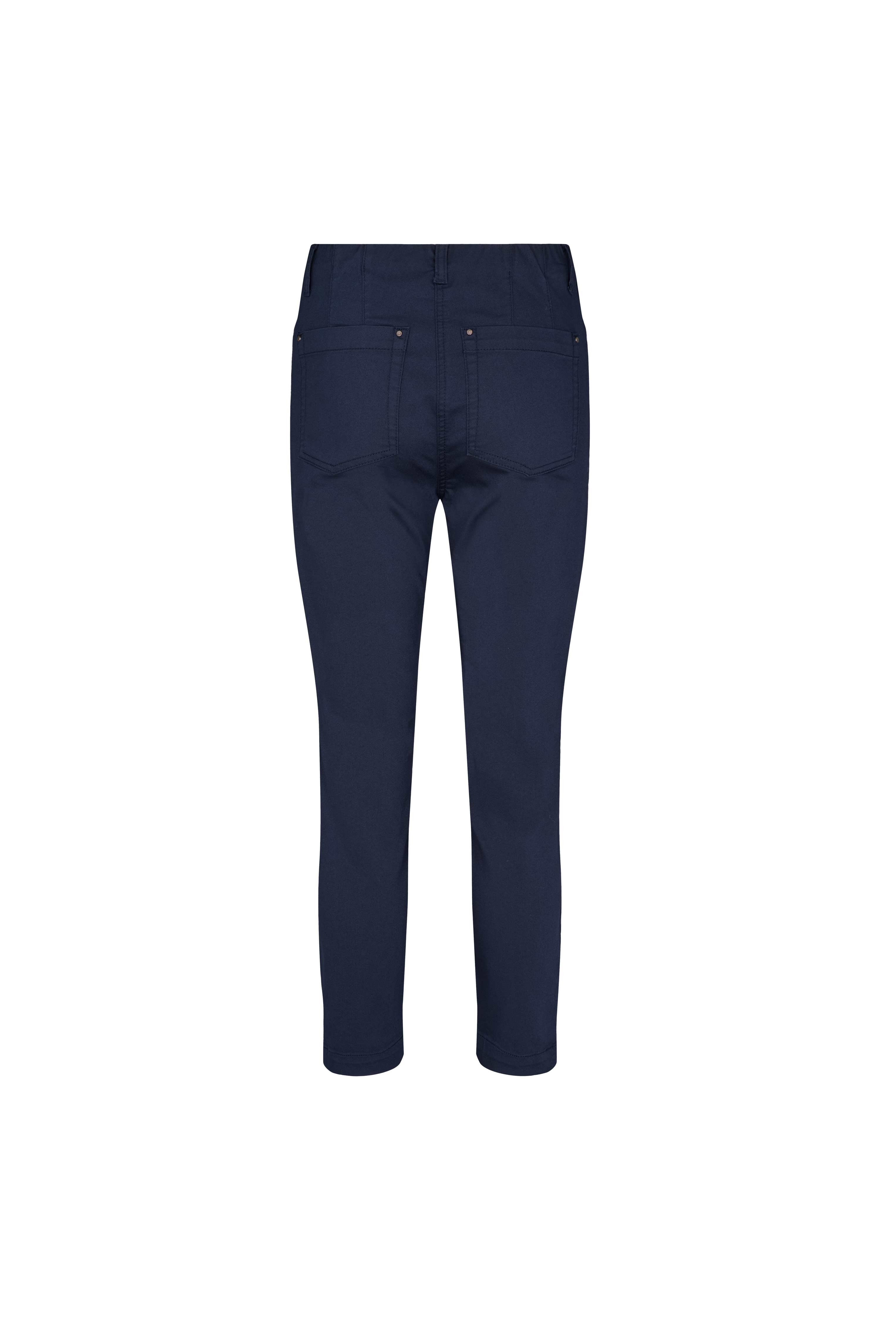 LauRie Madison Slim Cropped Bukser, Navy, 40