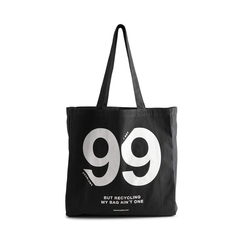 "Markberg Isidora ""99 Problems"" shopper, black/white"