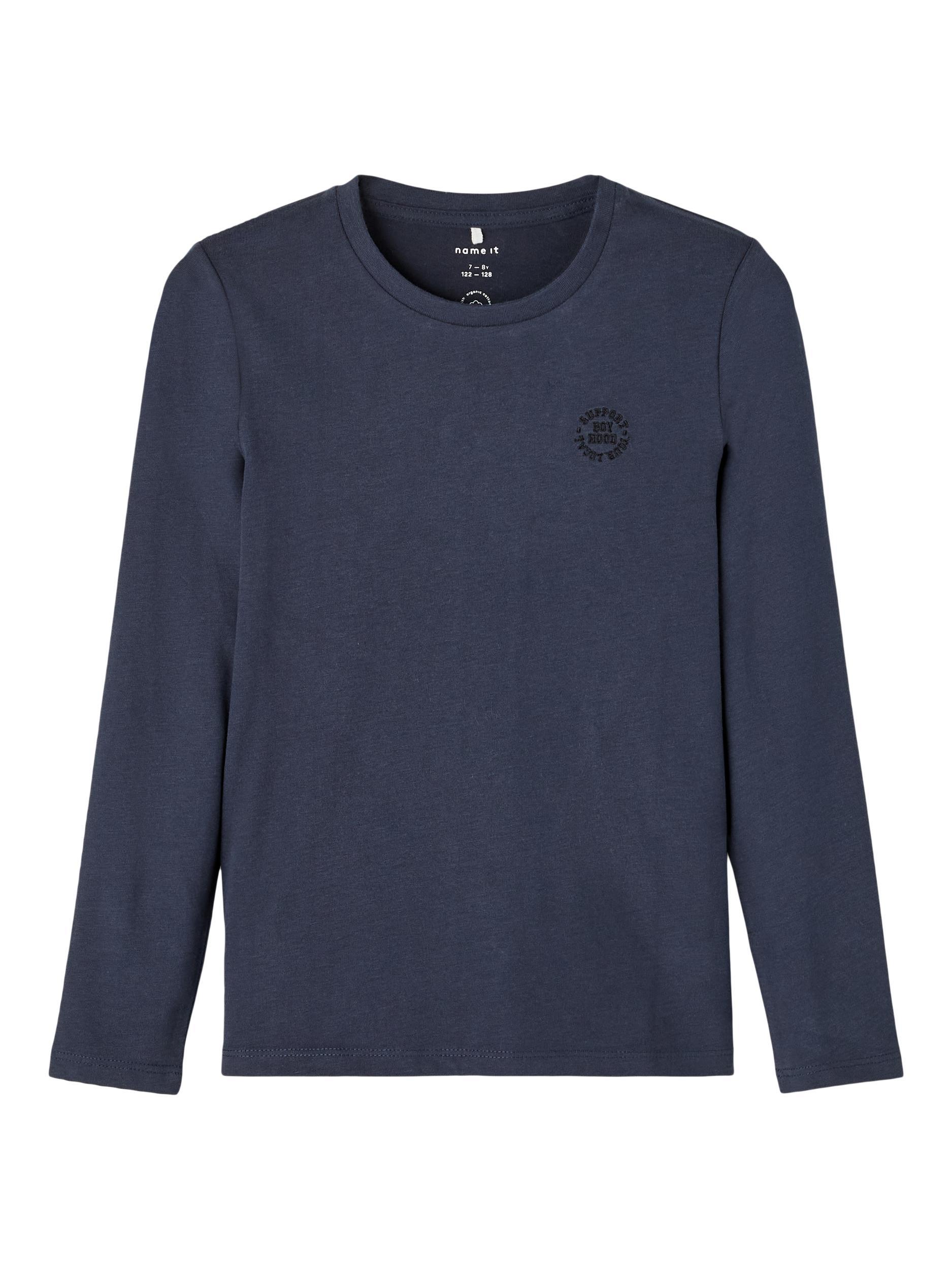 Name It Tano LS t-shirt, dark sapphire, 134-140
