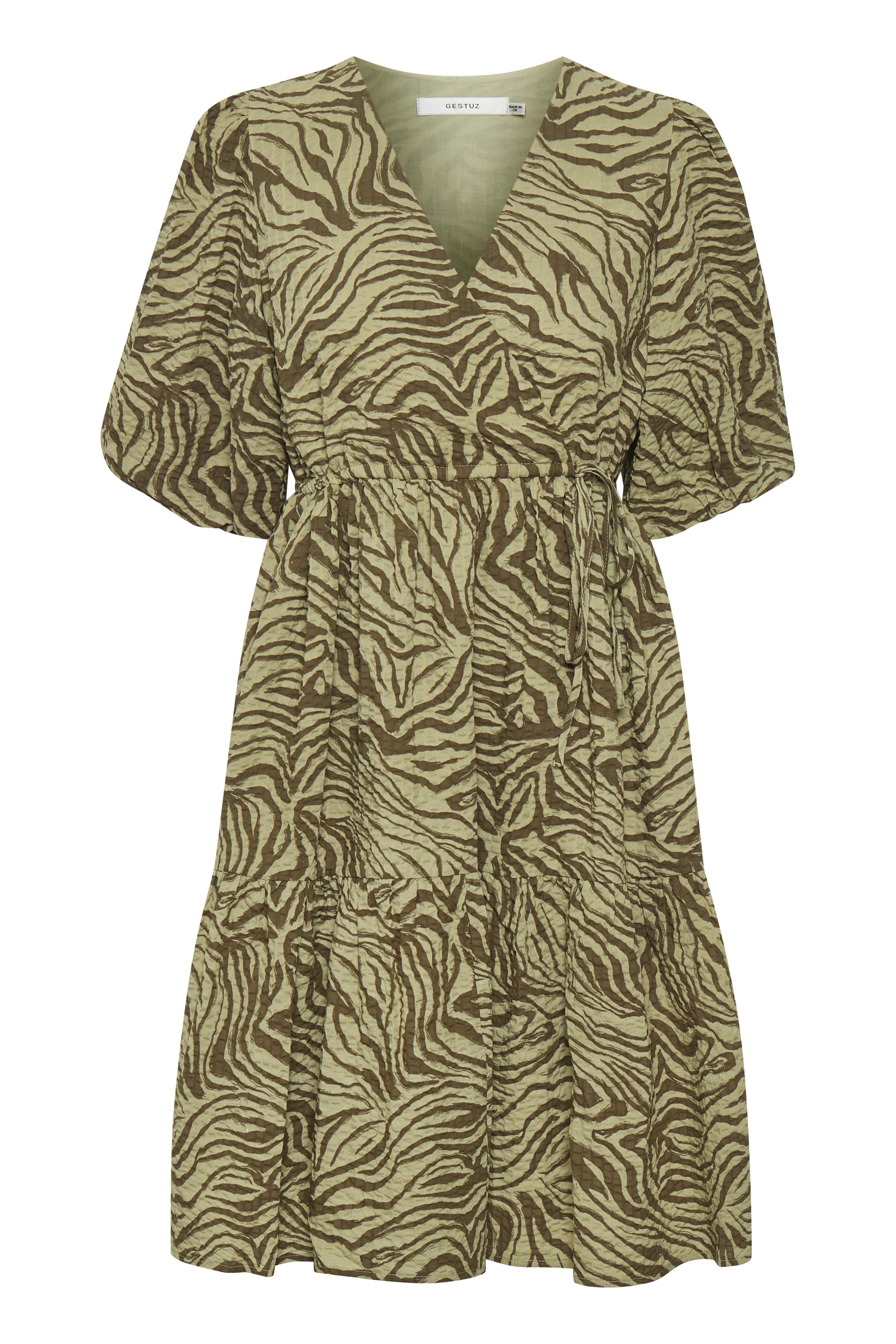 Gestuz AveryGZ kort kjole, elm zebra, 36