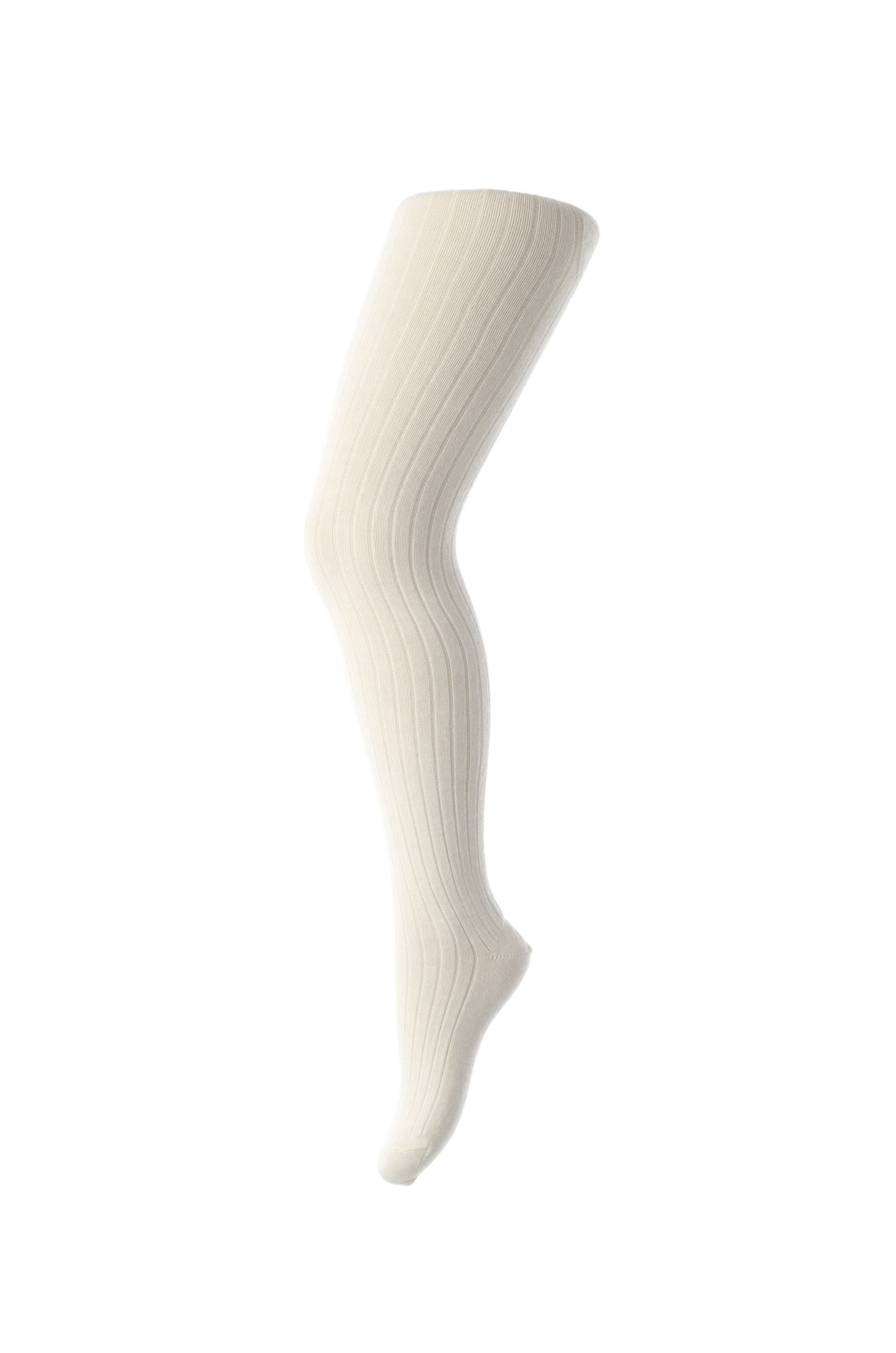 MP Basic Rib strømpebuks, white, 140