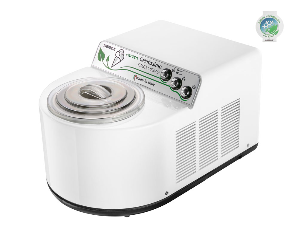 Nemox Gelatissimo Exclusive I-Green ismaskine, hvid