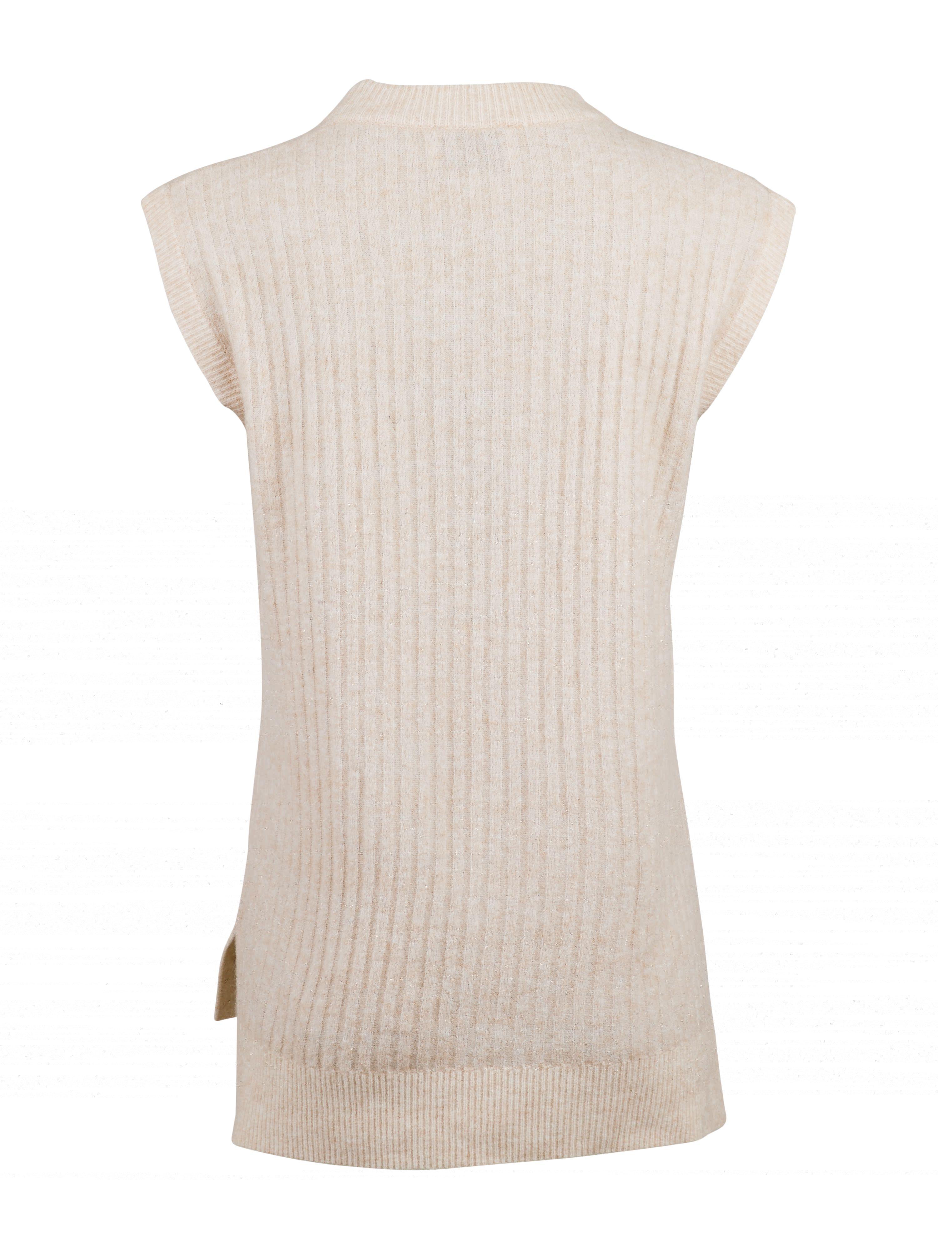 Neo Noir Natascha strik vest, sand melange, small