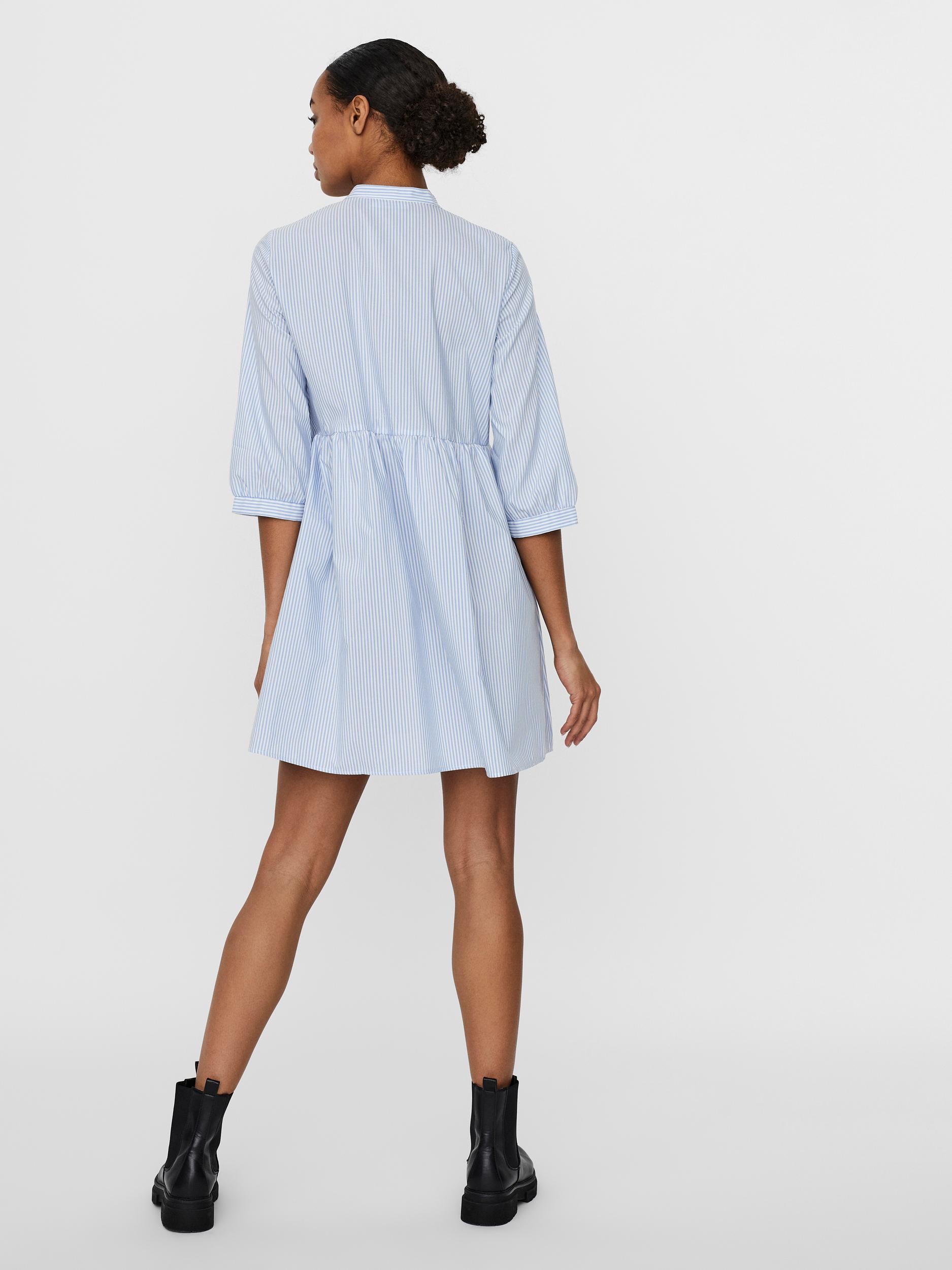 Vero Moda Sisi kjole, snow white/blue stripe, small