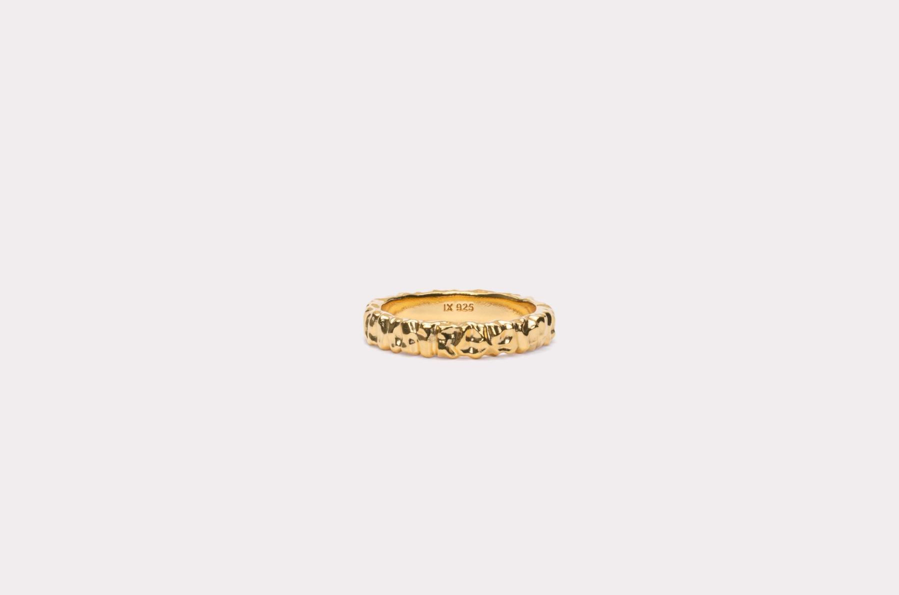 Frederik IX Studios Crunchy class ring, Gold, 54