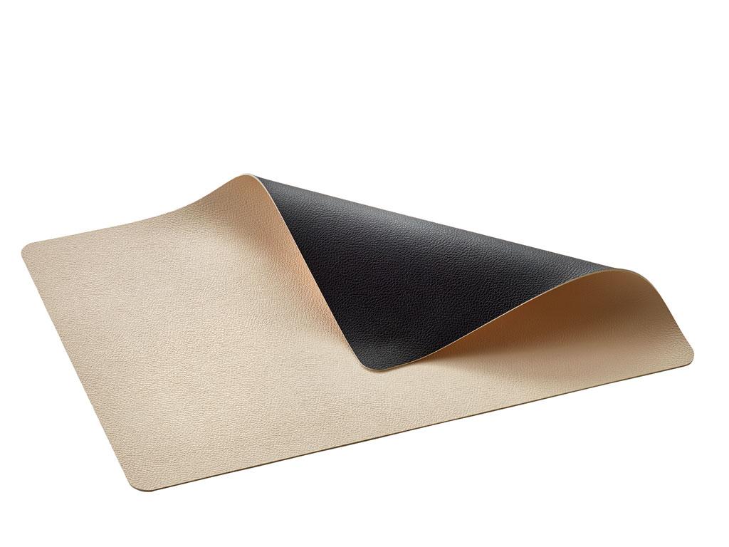 Bitz dækkeserviet, 33x46 cm, sort/brun, 4 stk