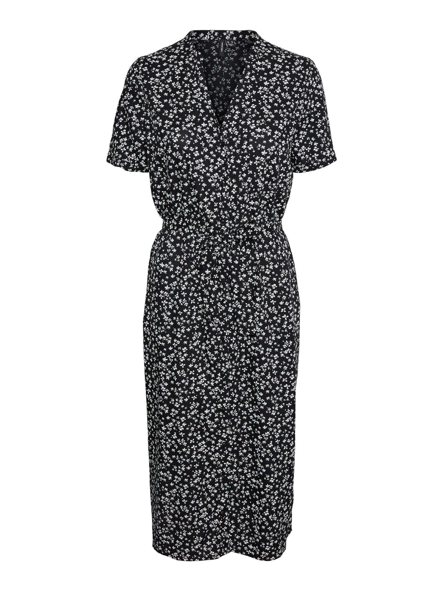 Vero Moda Simone midi-kjole, black/clover, small