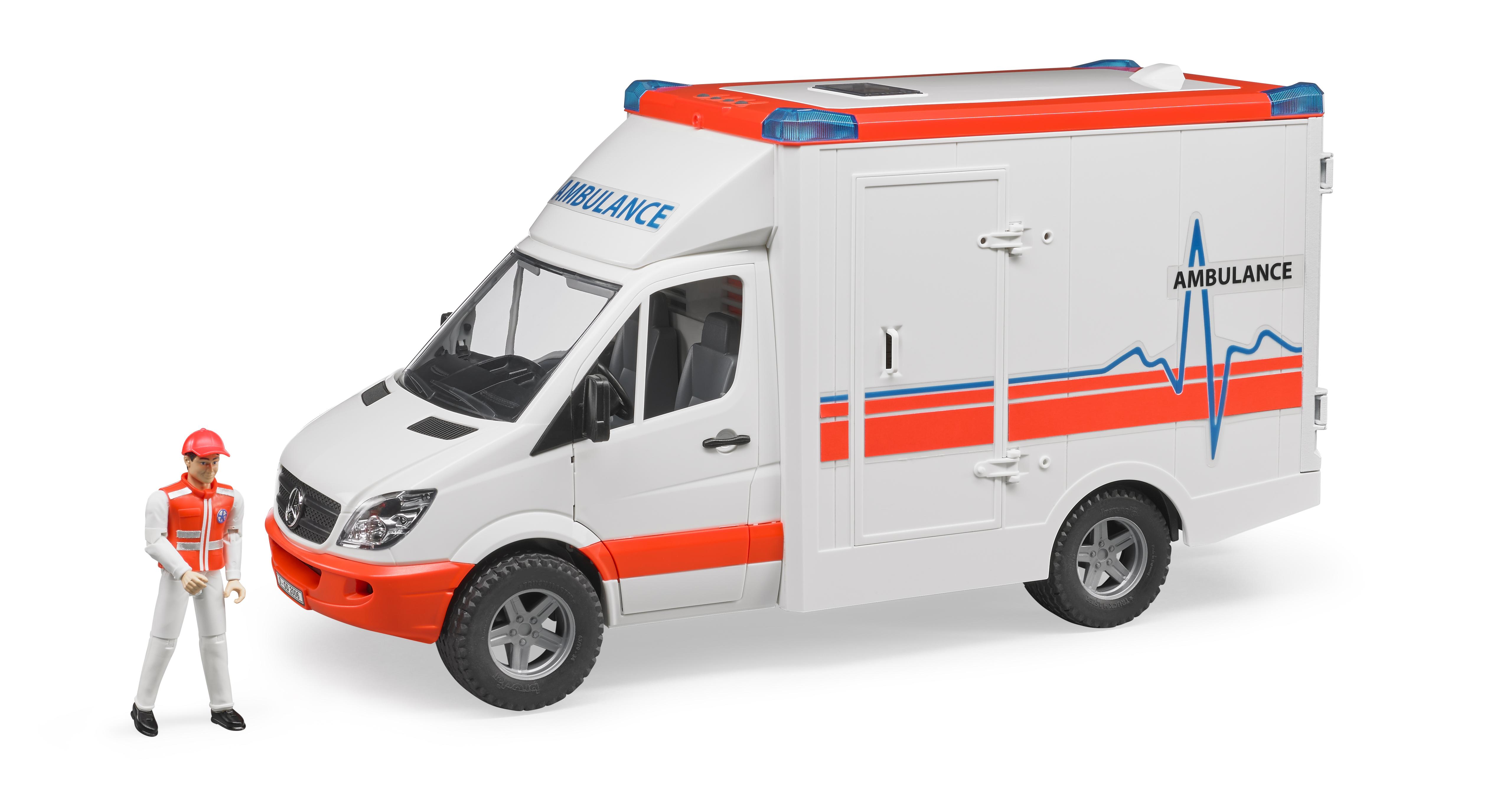 Bruder Mercedes Benz ambulance med chaffør