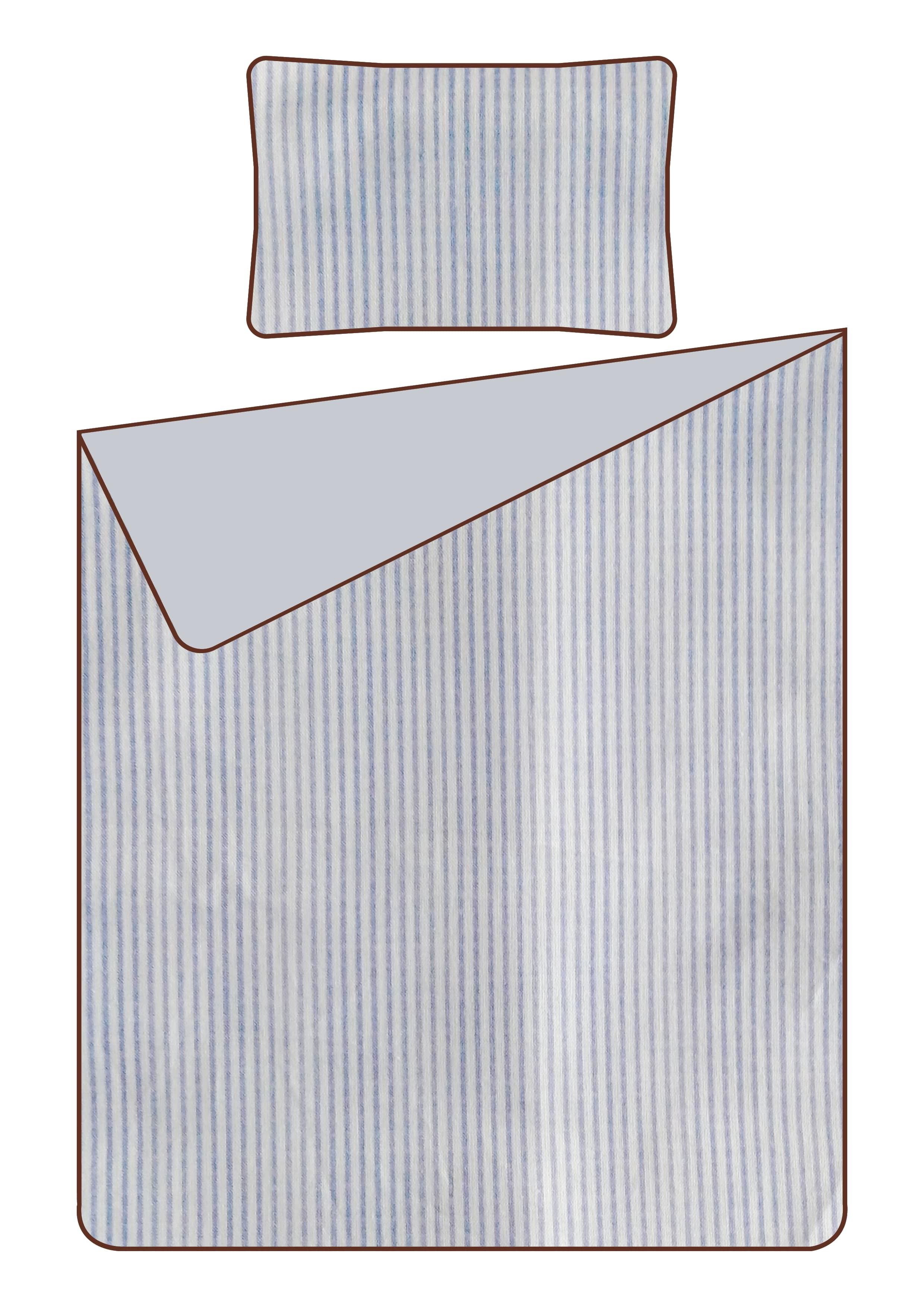 OMHU Mini Strib sengelinned, 140x200 cm, blå