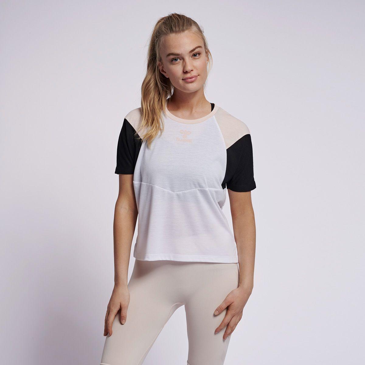 Hummel colour-block t-shirt, white, x-large