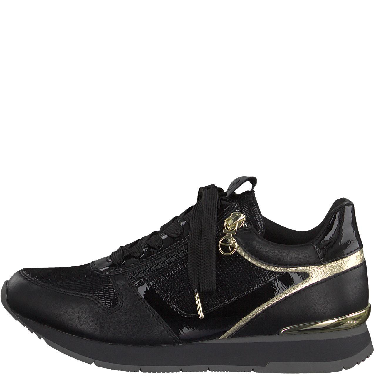 Tamaris 23603 sneakers, black/gold, 40