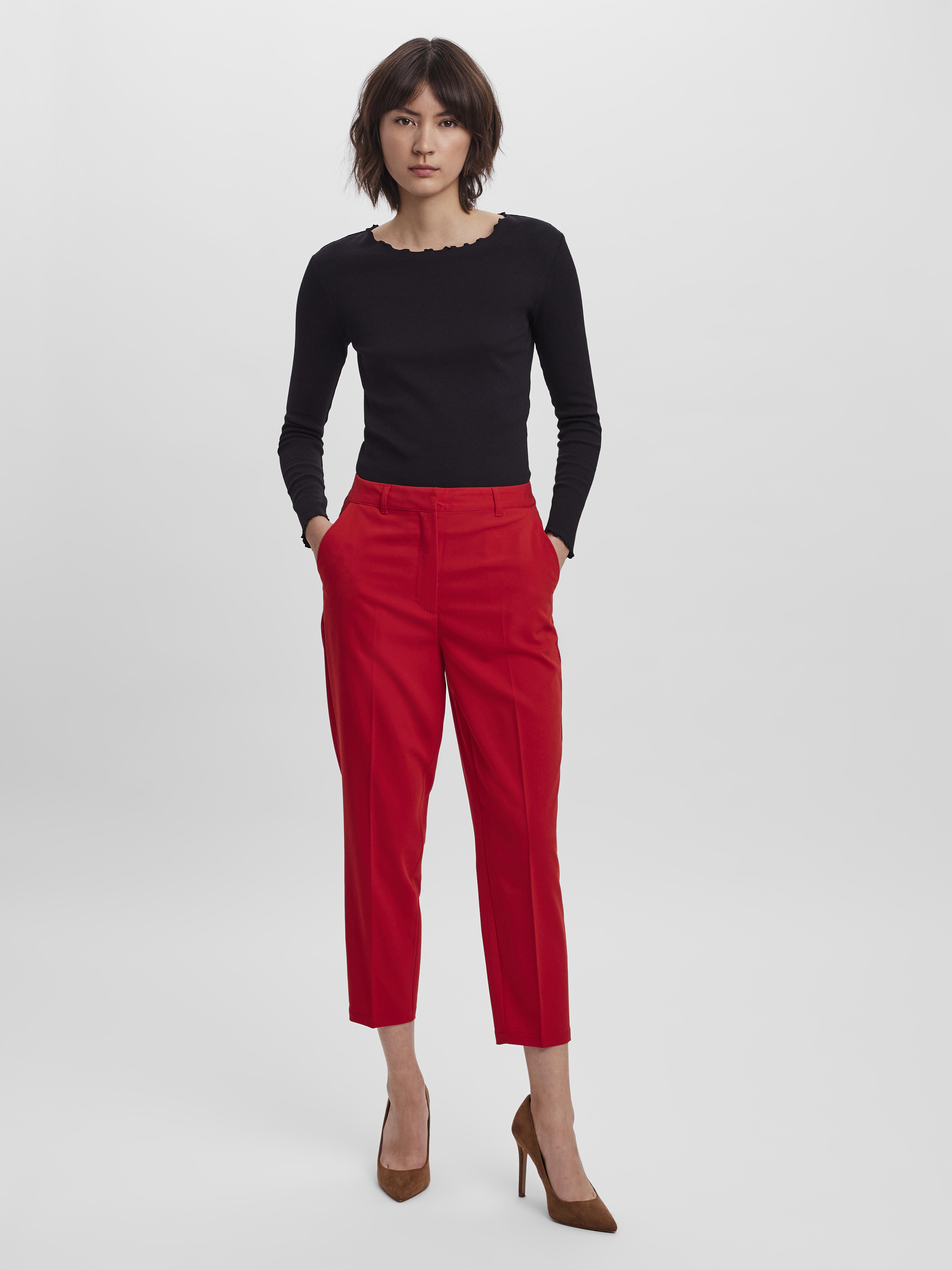 Vero Moda Zelda Bukser, Goji Berry, 36