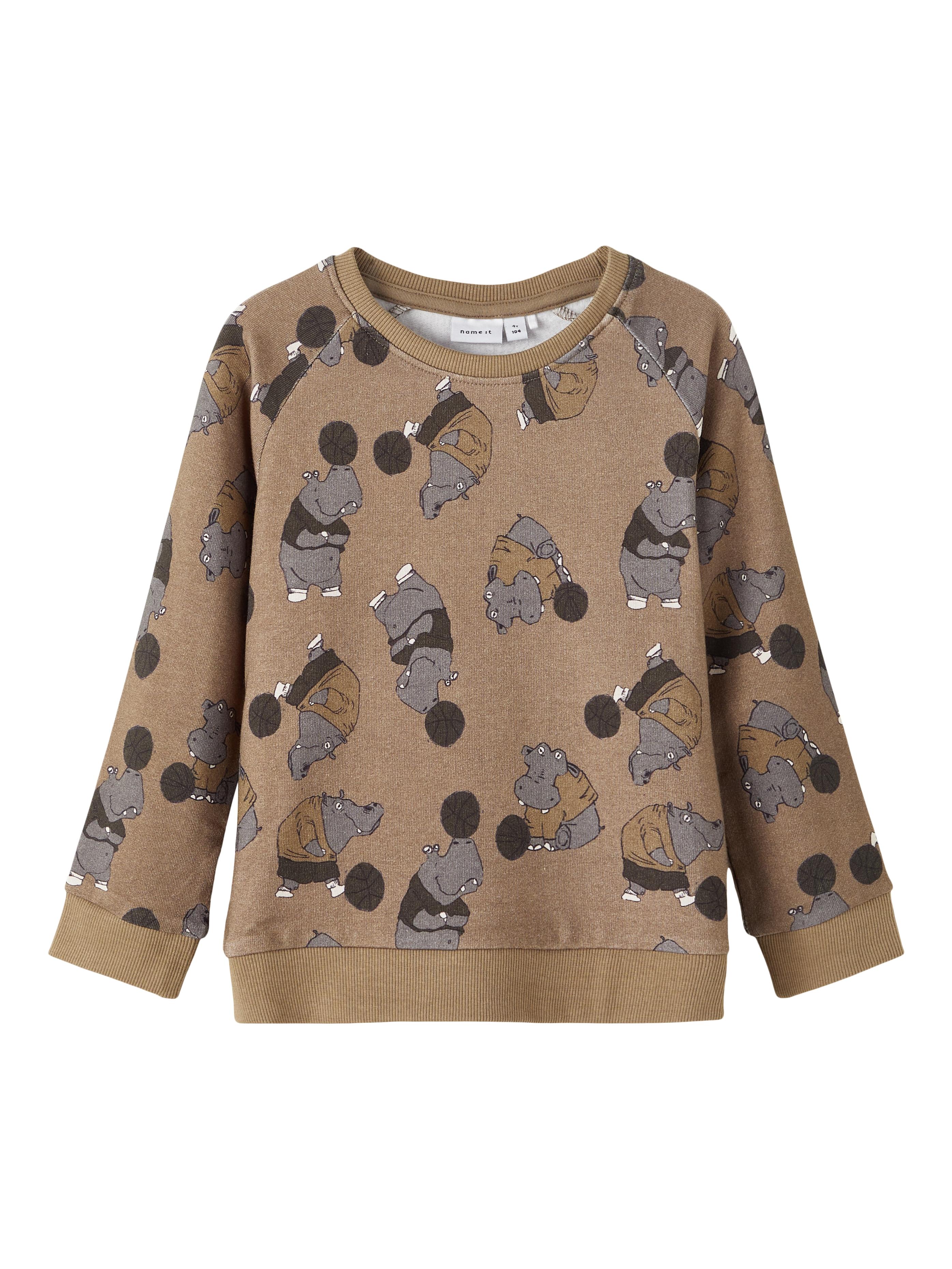 Name It Sonny sweatshirt, stone gray, 92 cm