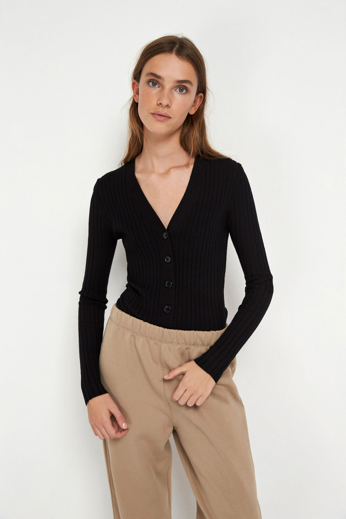 Envii Enege LS cardigan, black, x-large