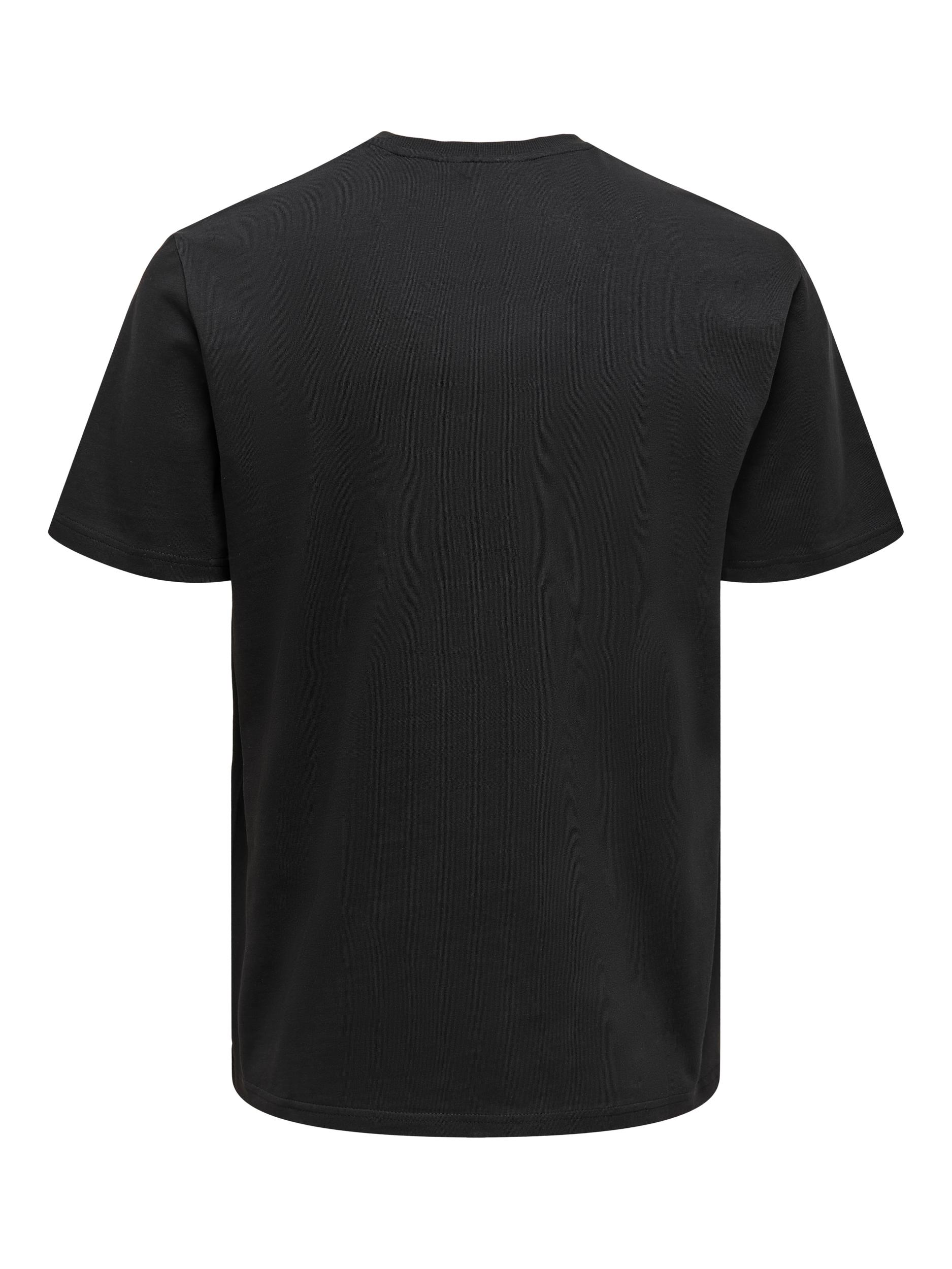 Only & Sons Anel Life SS t-shirt, black, large