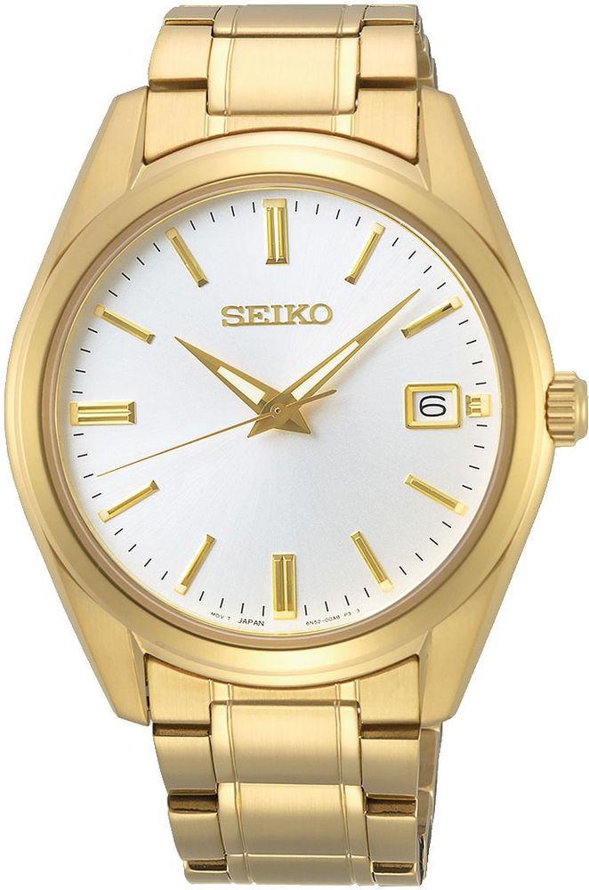 Seiko SUR314P1 herreur, gold/white