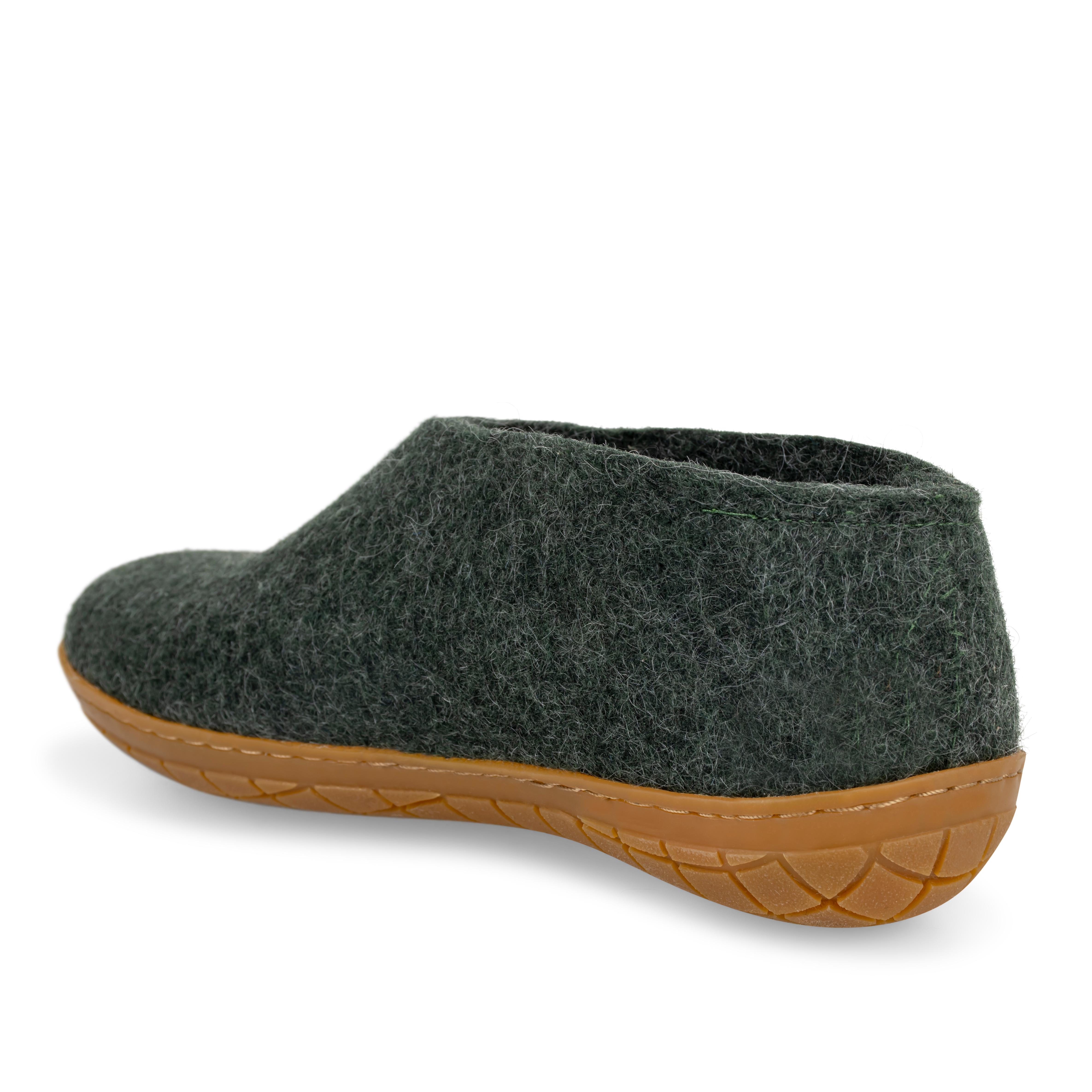Glerups sko med naturgummisål, forest, 38