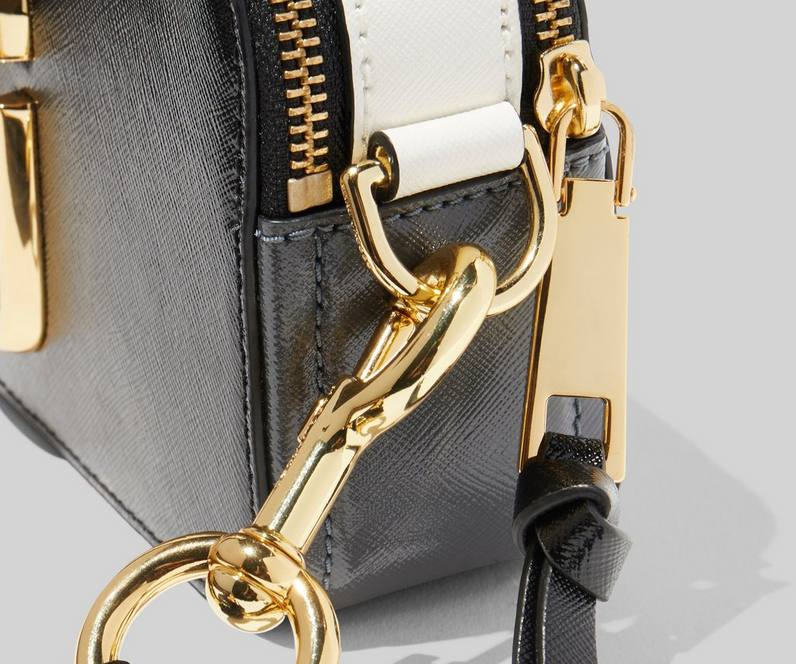Marc Jacobs The Logo Strap Snapshot crossover, black
