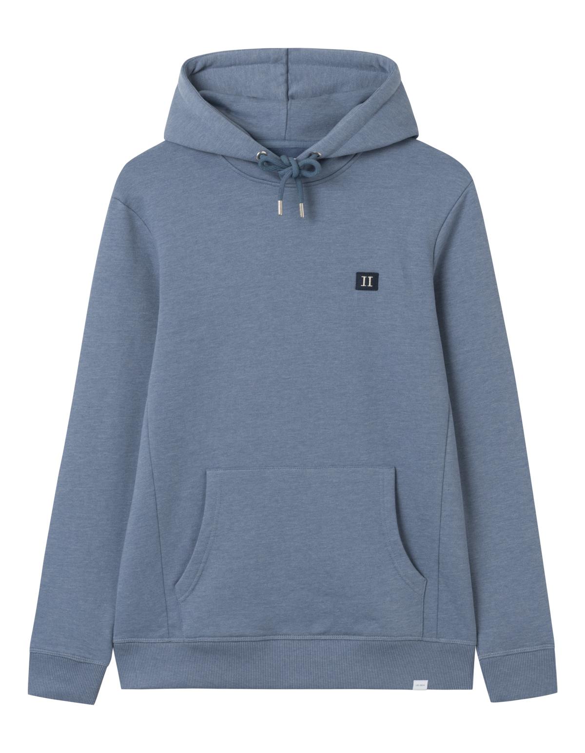 Les Deux Piece hoodie, china blue melange/dark navy, xx-large