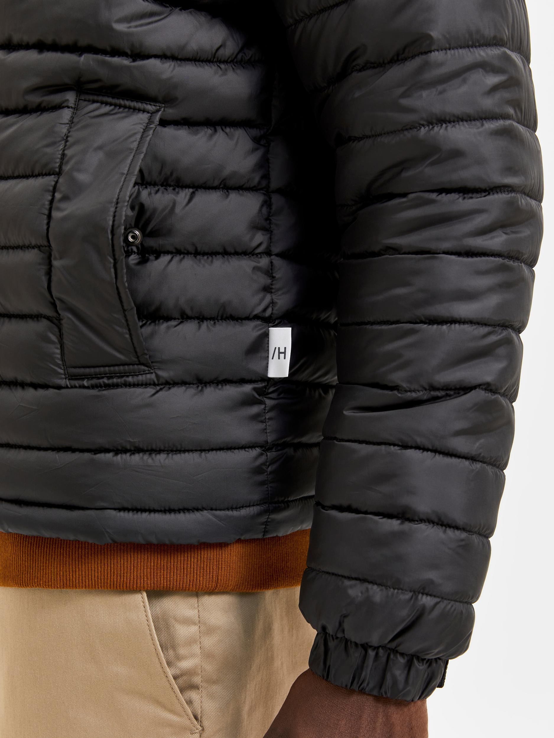 Selected Homme Plastic Change Padded jakke, sort, M