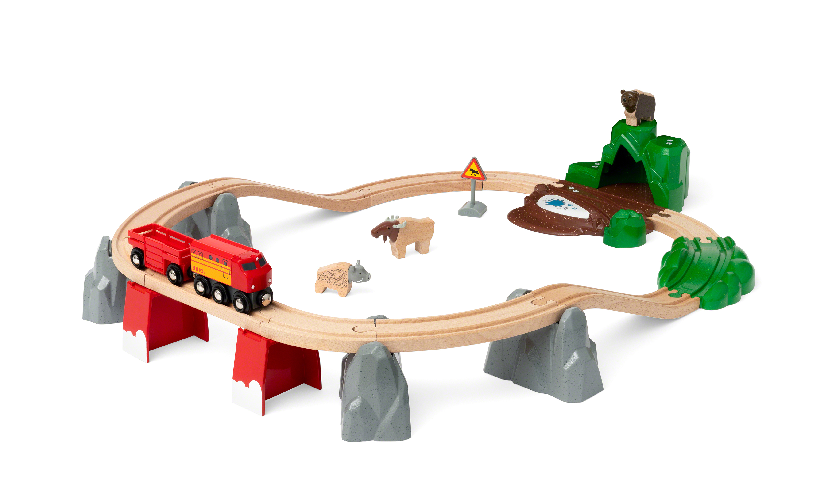 BRIO Togbane med nordiske dyr