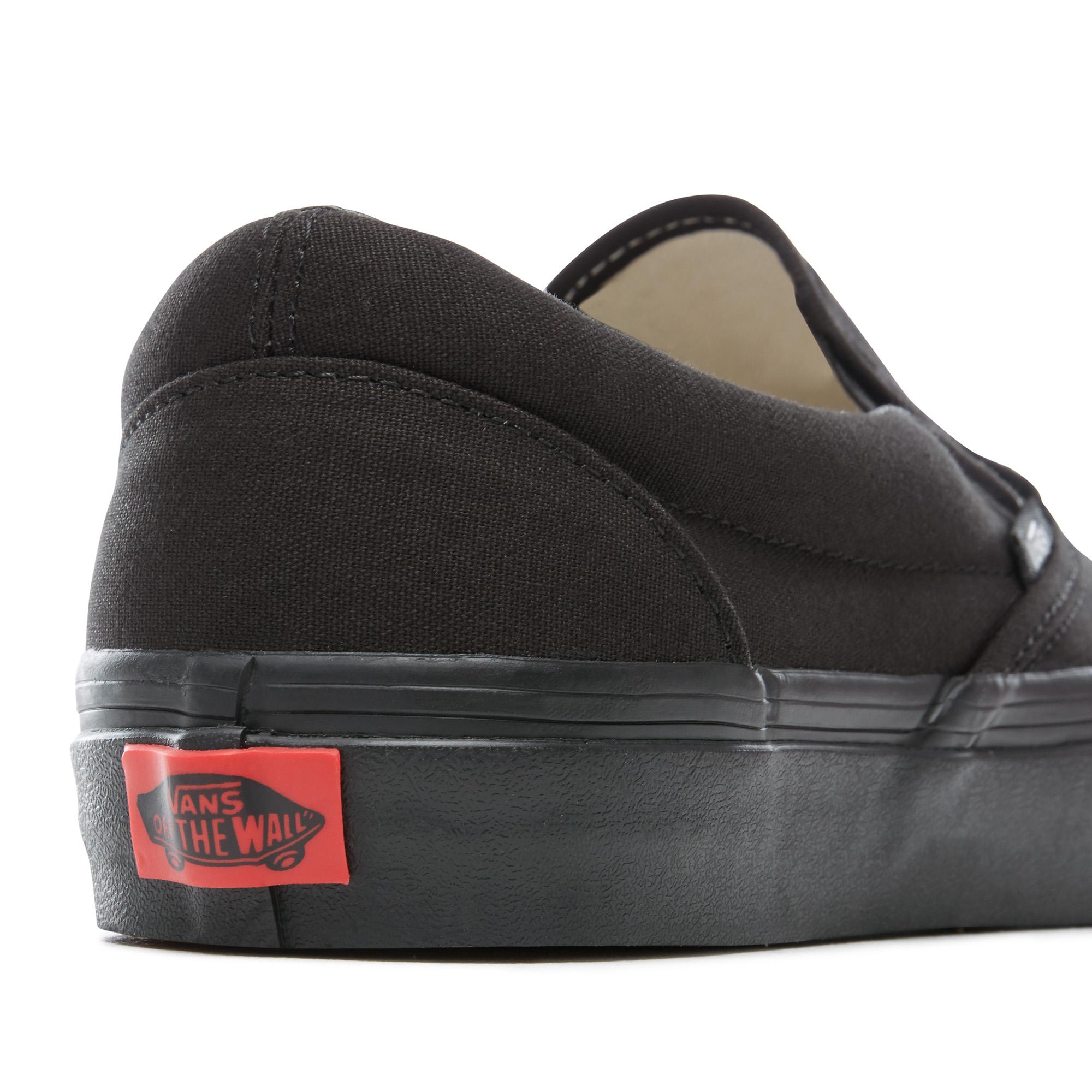 Vans classic slip on sko, black, 44
