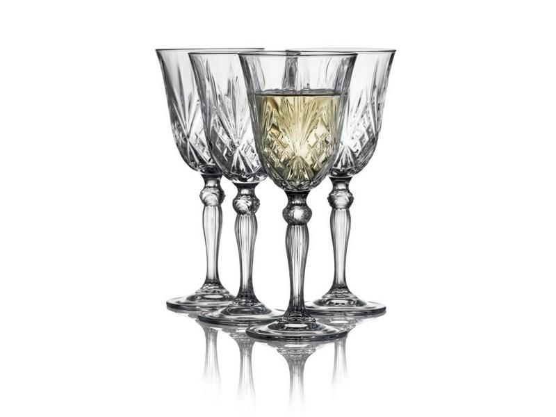 Lyngby-Glas Melodia Krystal hvidvinsglas, 210 ml, 4 stk
