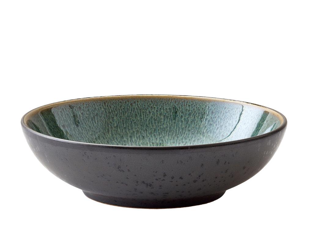 Bitz pastaskål, Ø20 cm, sort/grøn