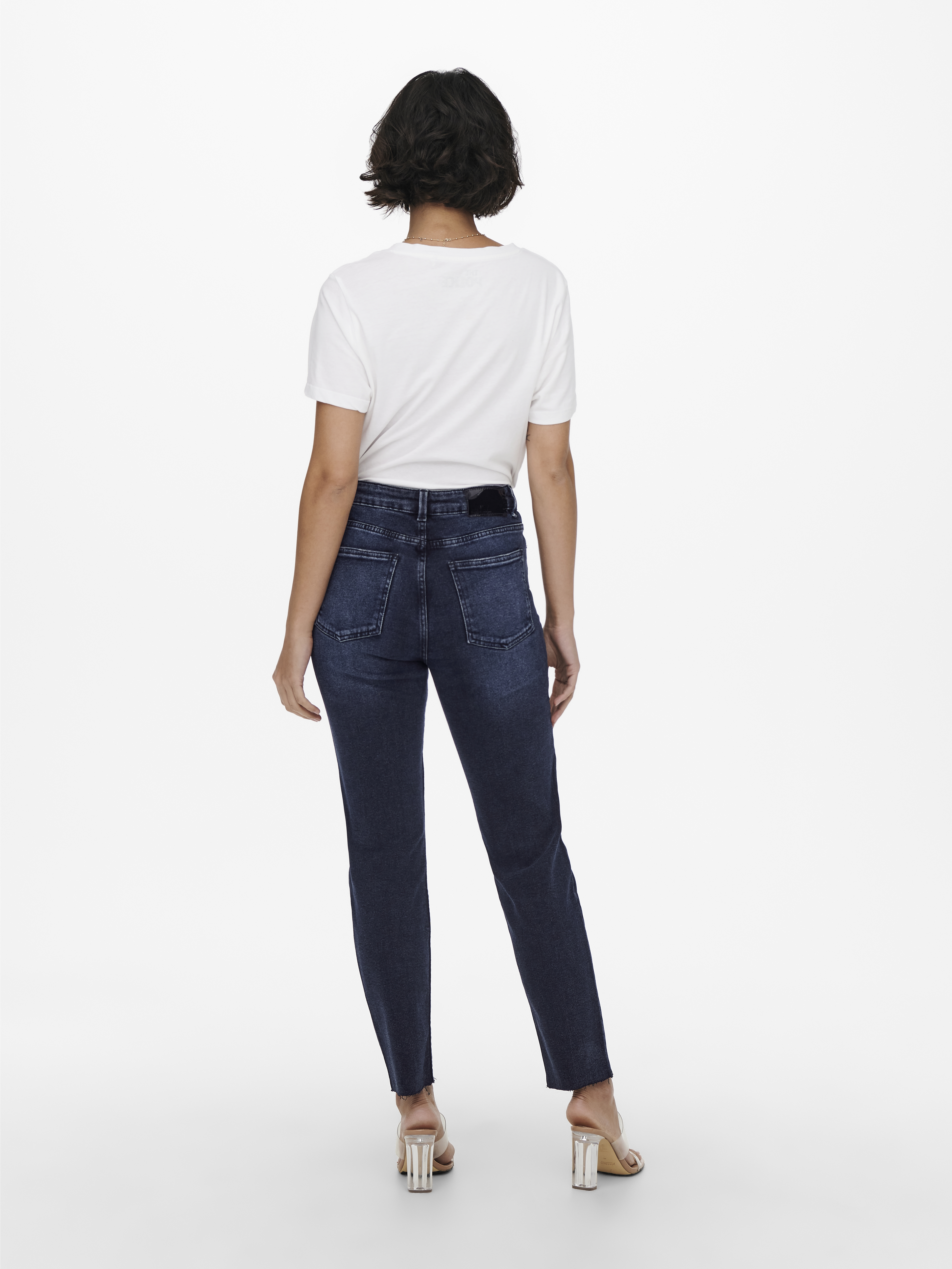 ONLY Emily Life HW jeans, blue black denim, W28/L32