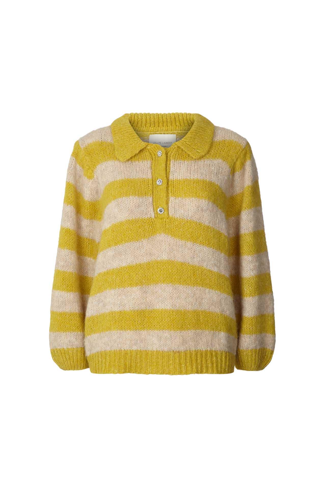 Lollys Laundry Dylan striktrøje, yellow, large