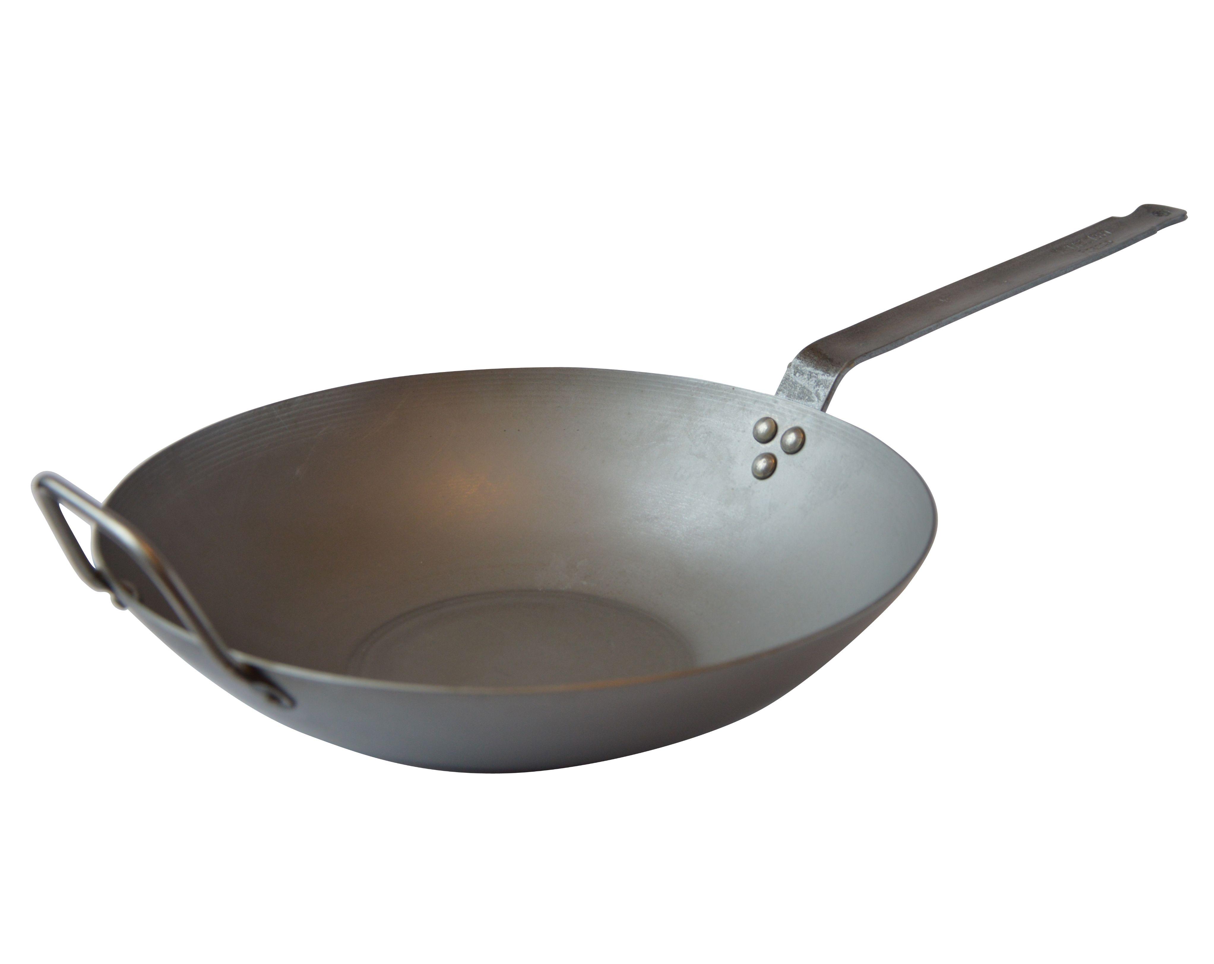 Mauviel wok pladejern, Ø 30 cm, stål